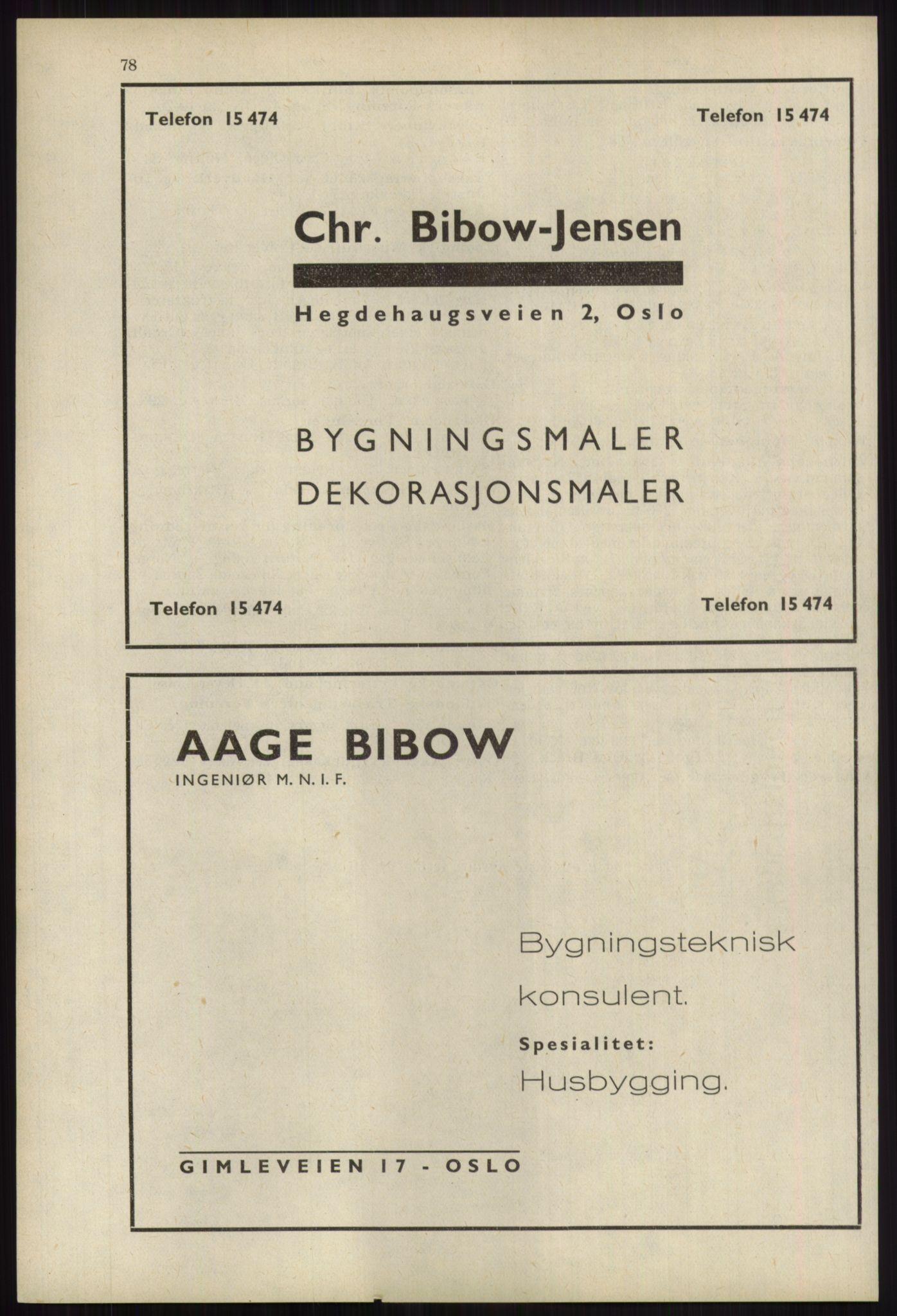 RA, Oslo adressebok (publikasjon)*, 1939, s. 78