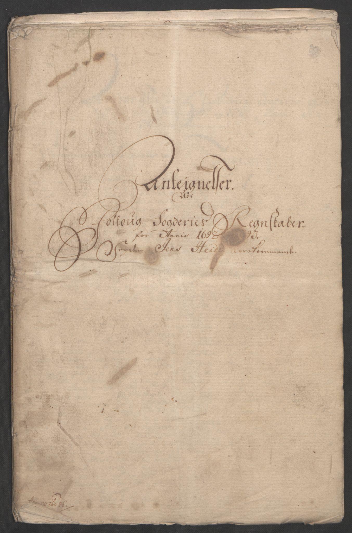 RA, Rentekammeret inntil 1814, Reviderte regnskaper, Fogderegnskap, R09/L0437: Fogderegnskap Follo, 1692-1693, s. 452