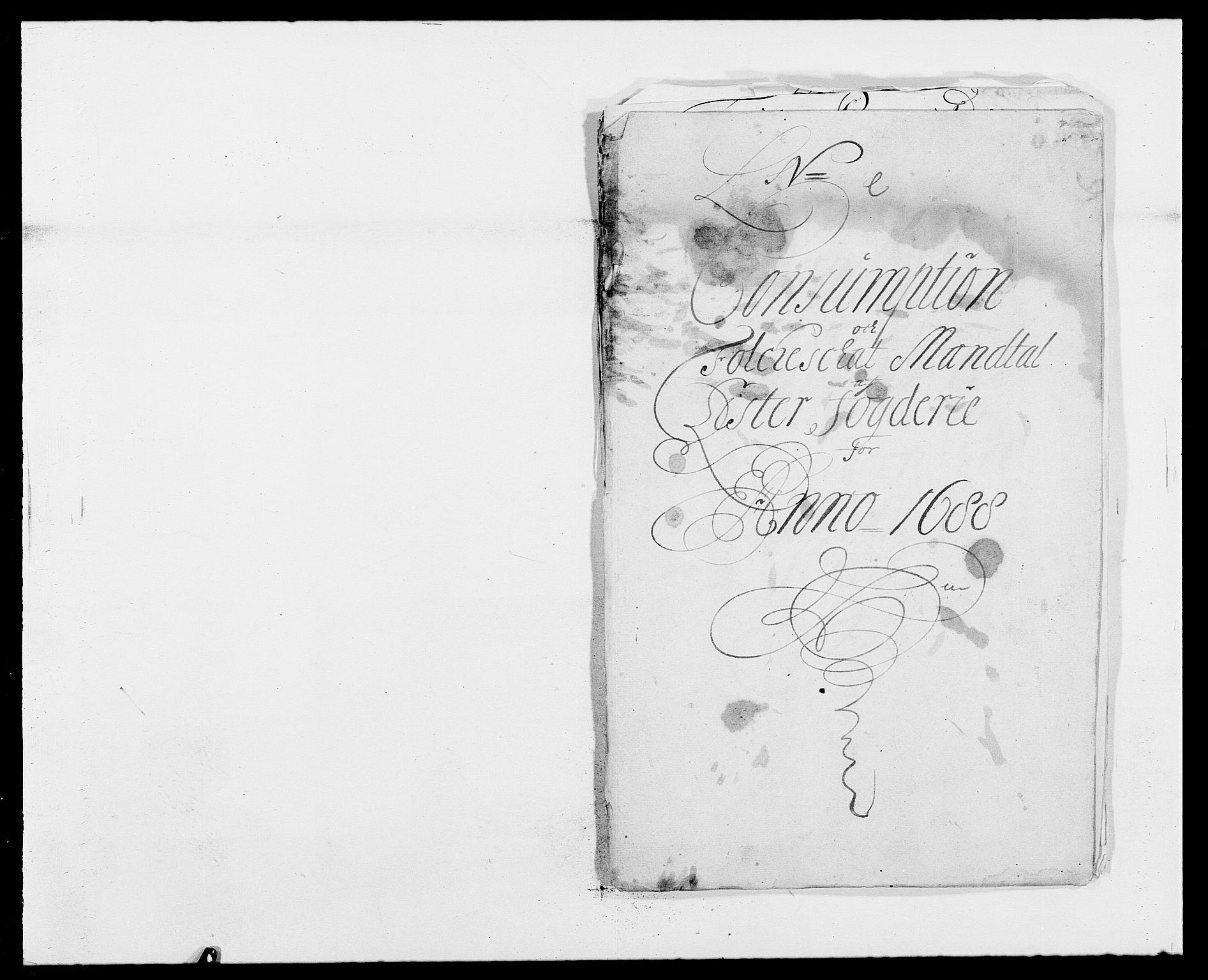 RA, Rentekammeret inntil 1814, Reviderte regnskaper, Fogderegnskap, R41/L2534: Fogderegnskap Lista, 1686-1688, s. 236