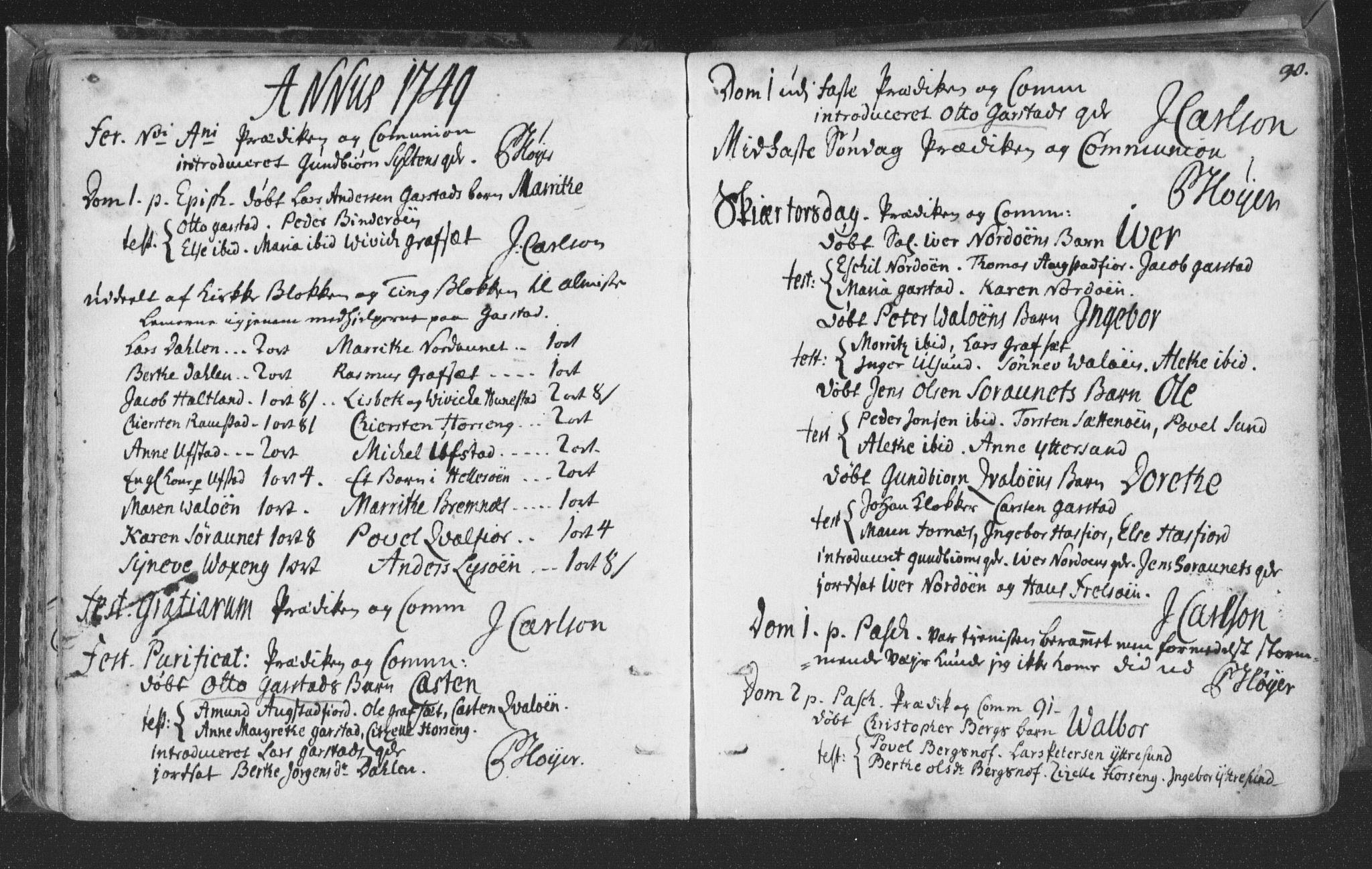 SAT, Ministerialprotokoller, klokkerbøker og fødselsregistre - Nord-Trøndelag, 786/L0685: Ministerialbok nr. 786A01, 1710-1798, s. 90