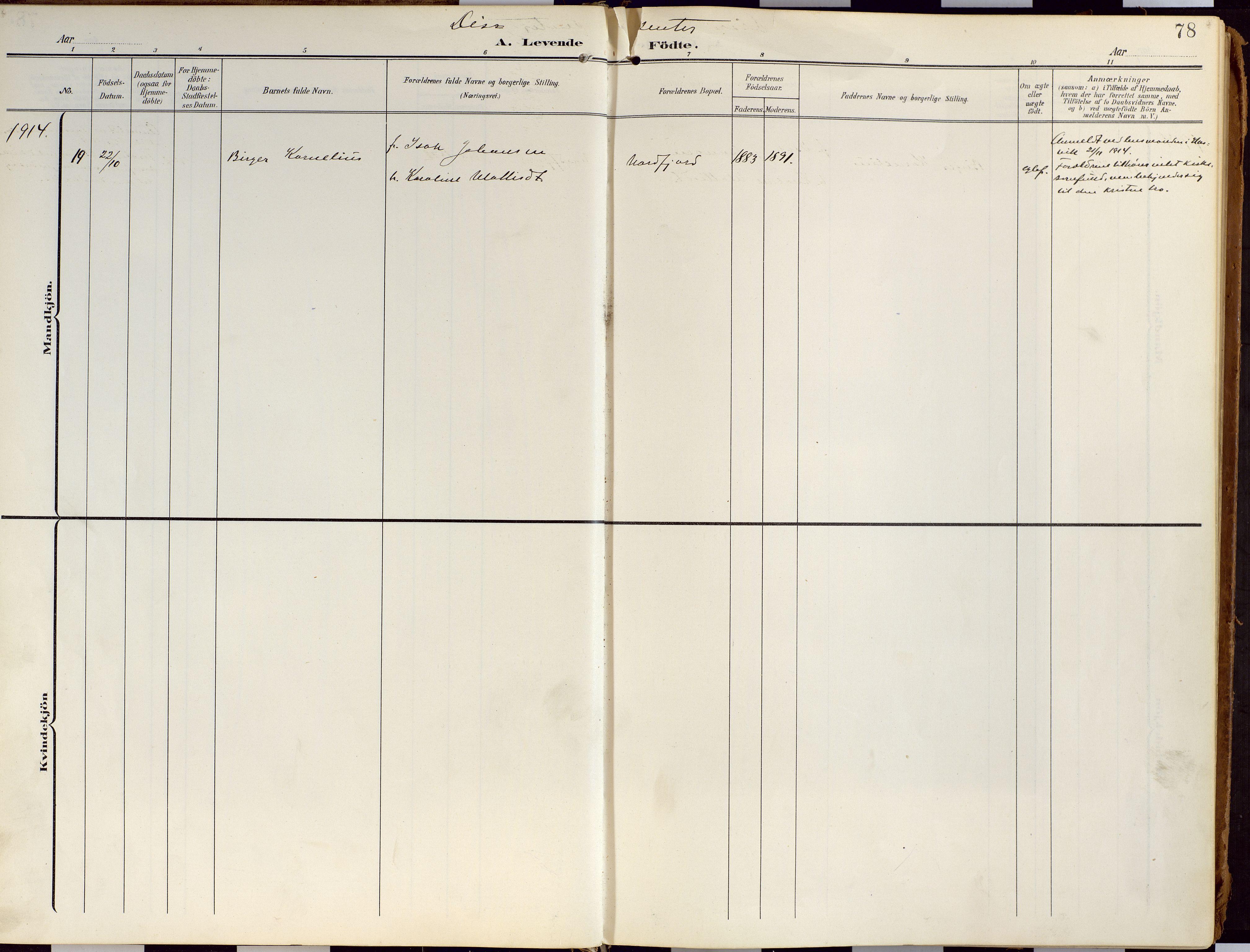 SATØ, Loppa sokneprestkontor, H/Ha/L0010kirke: Ministerialbok nr. 10, 1907-1922, s. 78