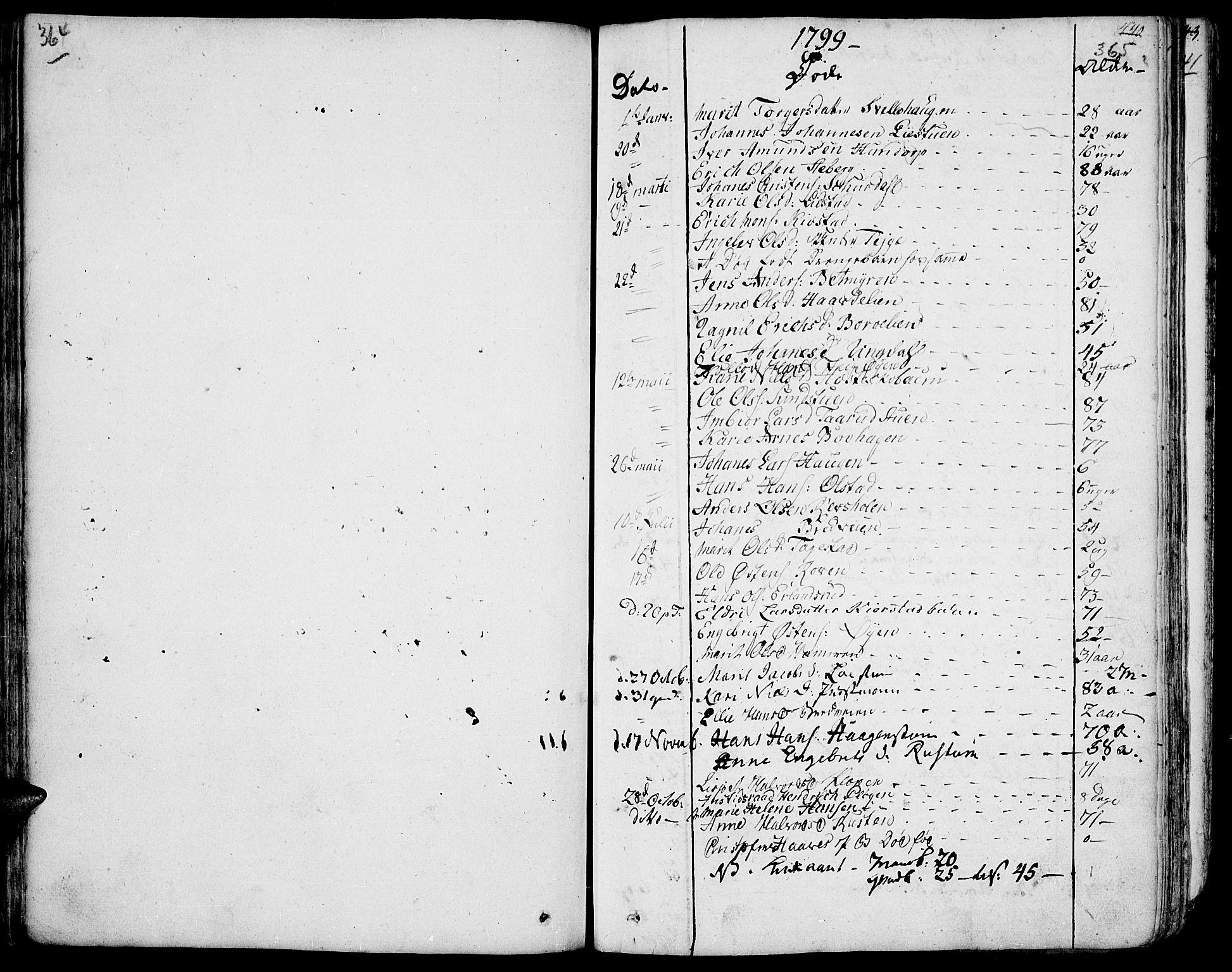 SAH, Fron prestekontor, H/Ha/Haa/L0001: Ministerialbok nr. 1, 1799-1816, s. 364-365