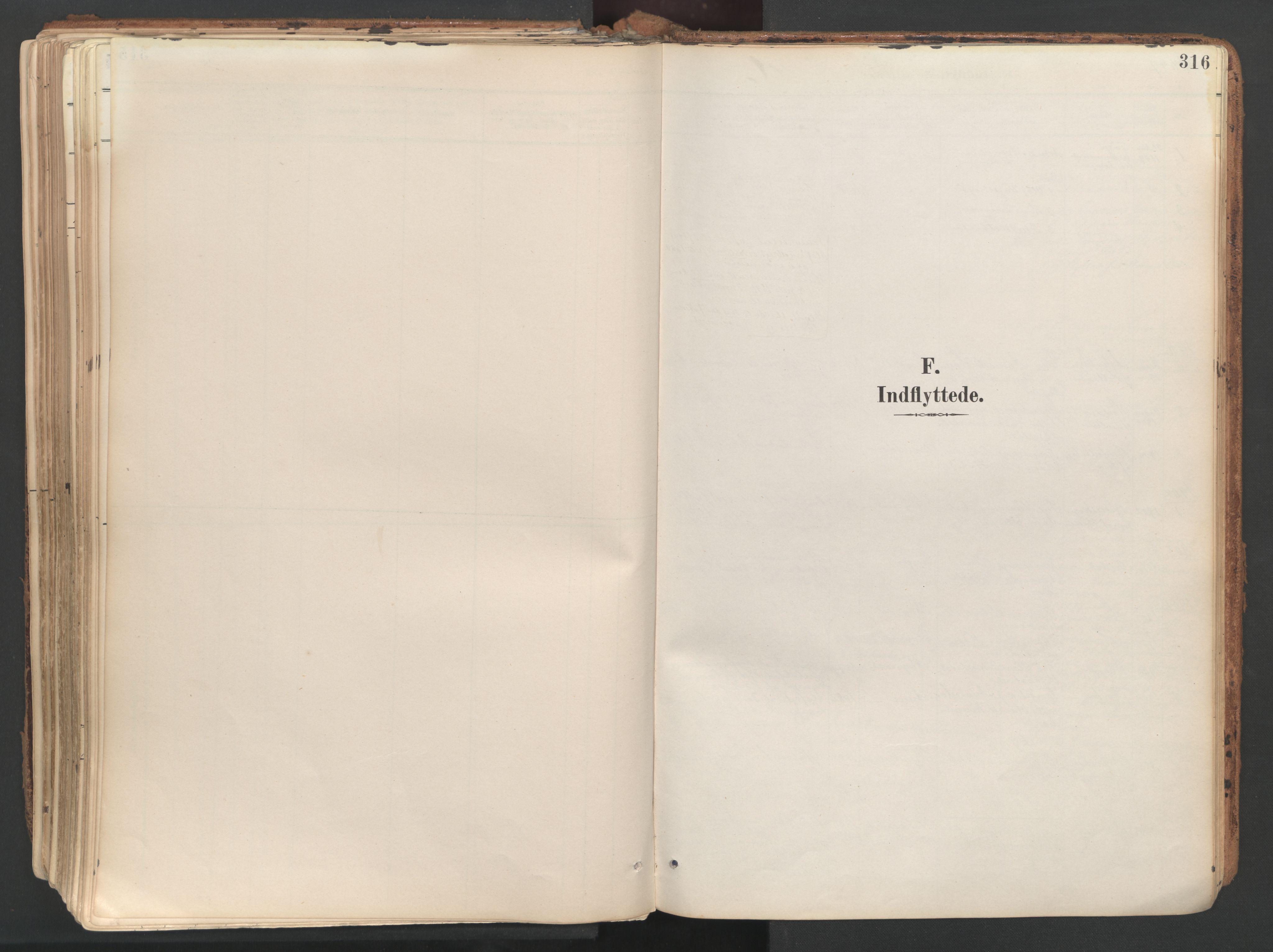 SAT, Ministerialprotokoller, klokkerbøker og fødselsregistre - Sør-Trøndelag, 687/L1004: Ministerialbok nr. 687A10, 1891-1923, s. 316
