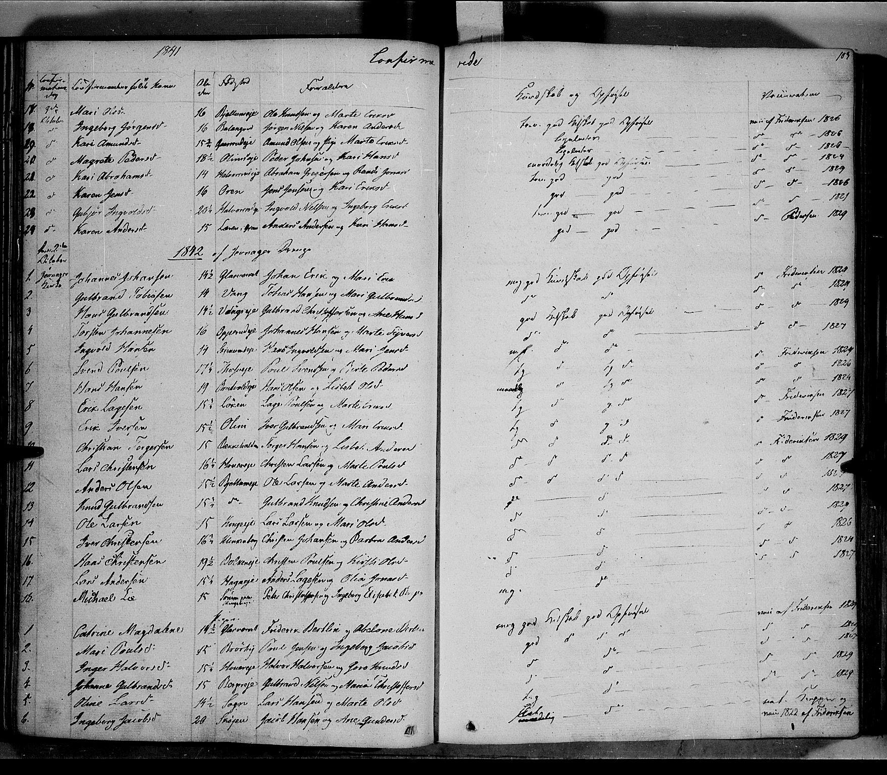 SAH, Jevnaker prestekontor, Ministerialbok nr. 6, 1837-1857, s. 103