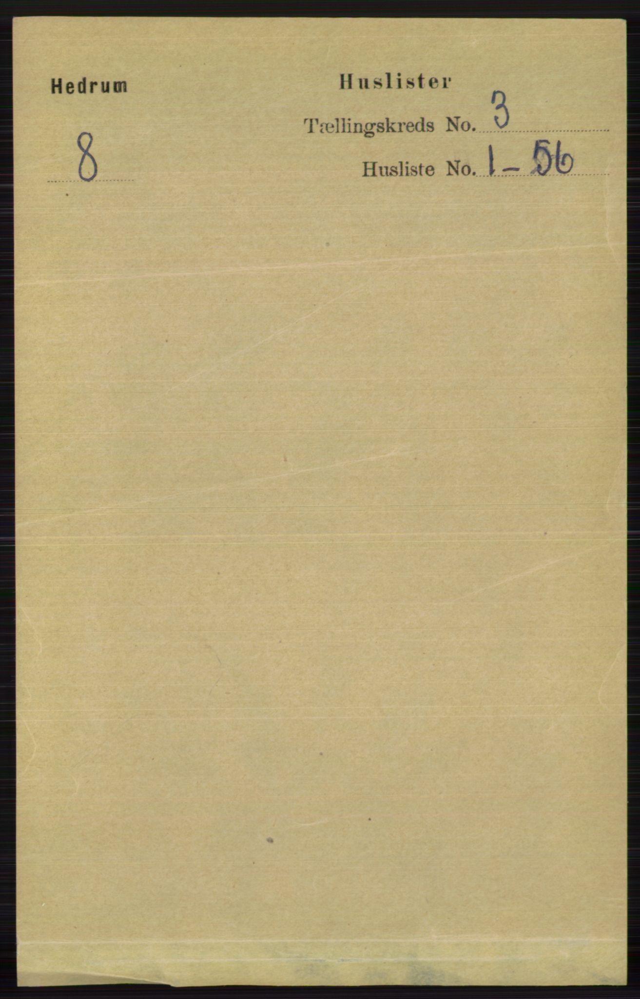 RA, Folketelling 1891 for 0727 Hedrum herred, 1891, s. 919