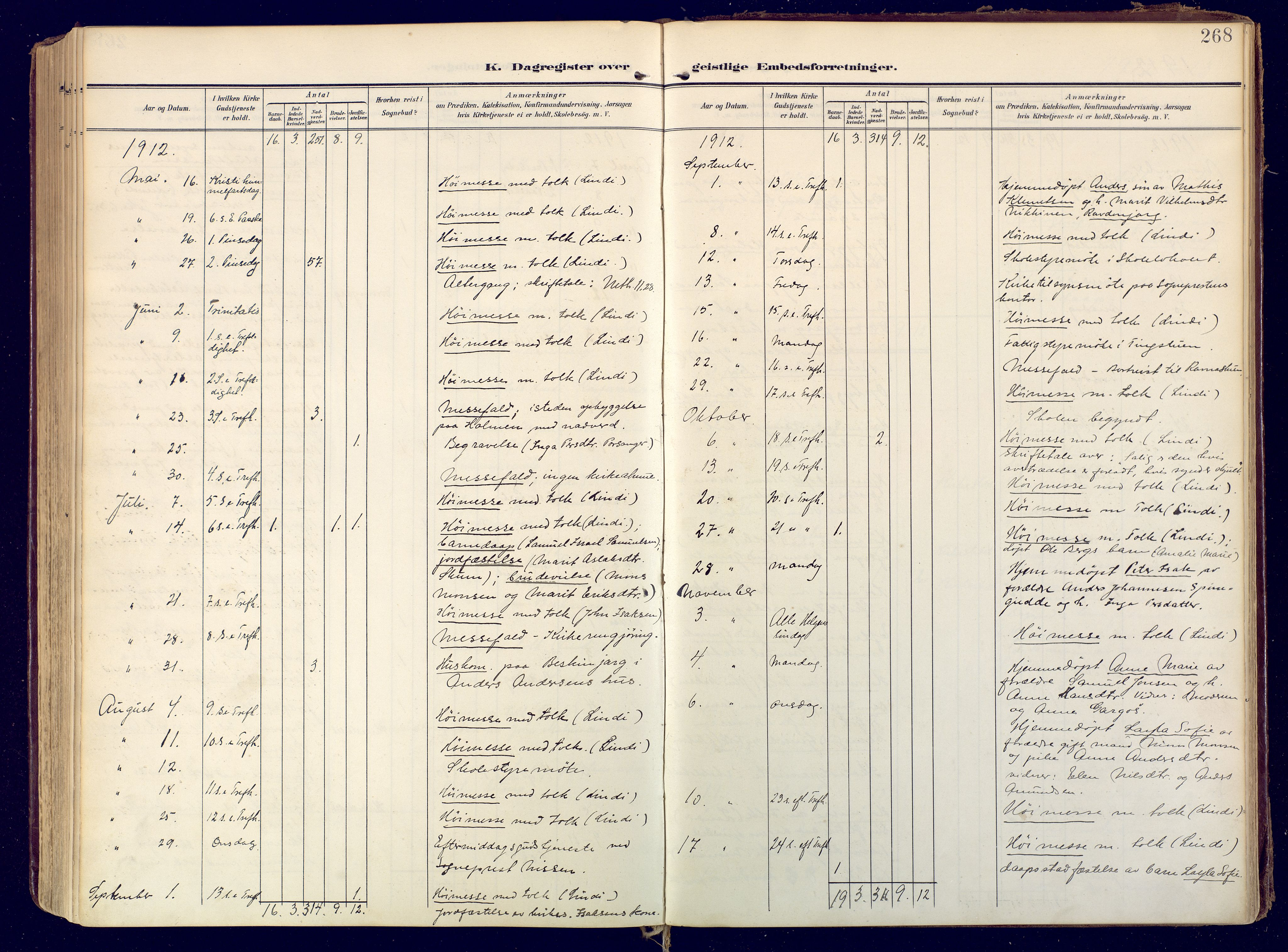 SATØ, Karasjok sokneprestkontor, H/Ha: Ministerialbok nr. 3, 1907-1926, s. 268
