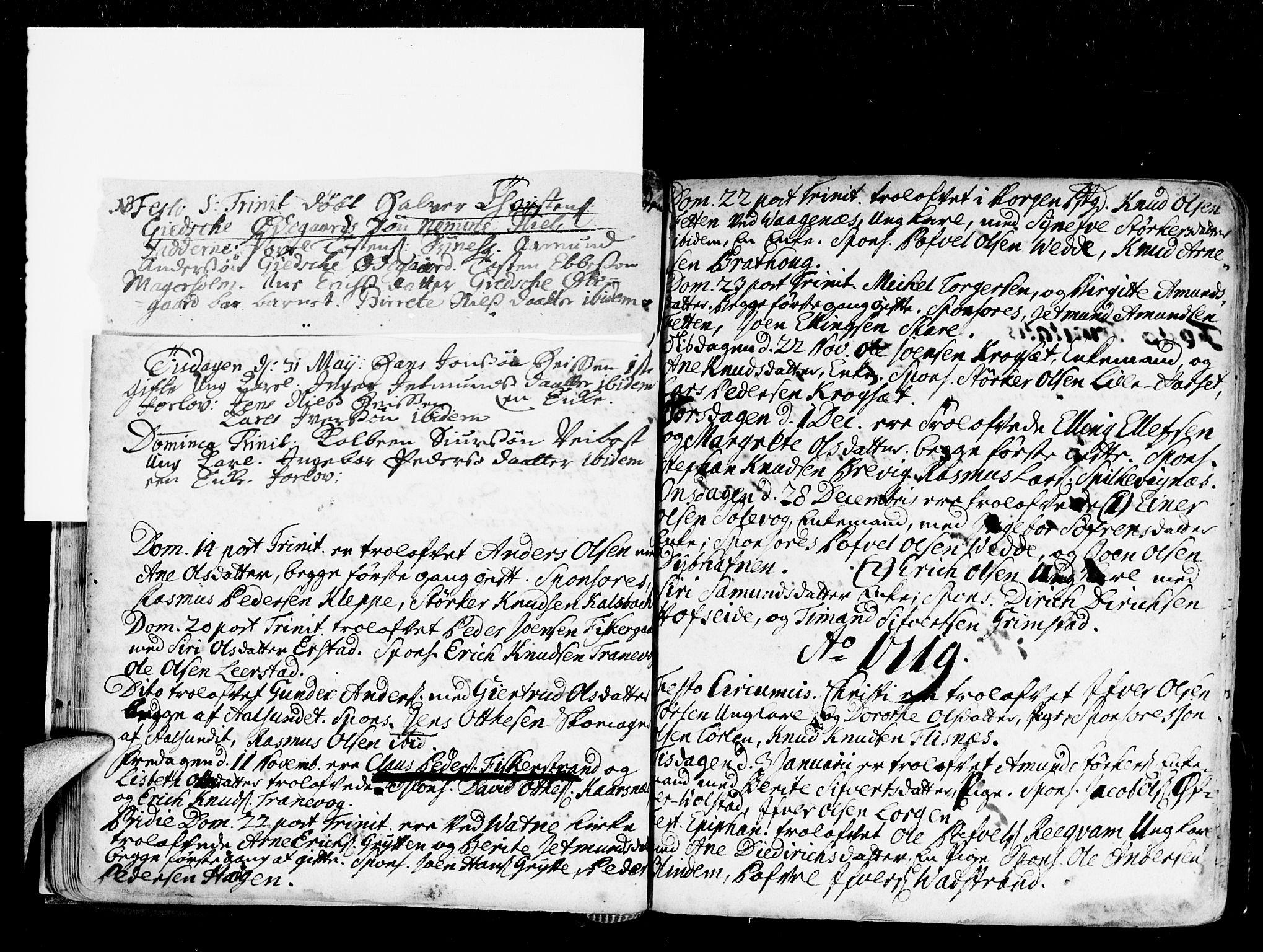 SAT, Ministerialprotokoller, klokkerbøker og fødselsregistre - Møre og Romsdal, 528/L0390: Ministerialbok nr. 528A01, 1698-1739, s. 34-35