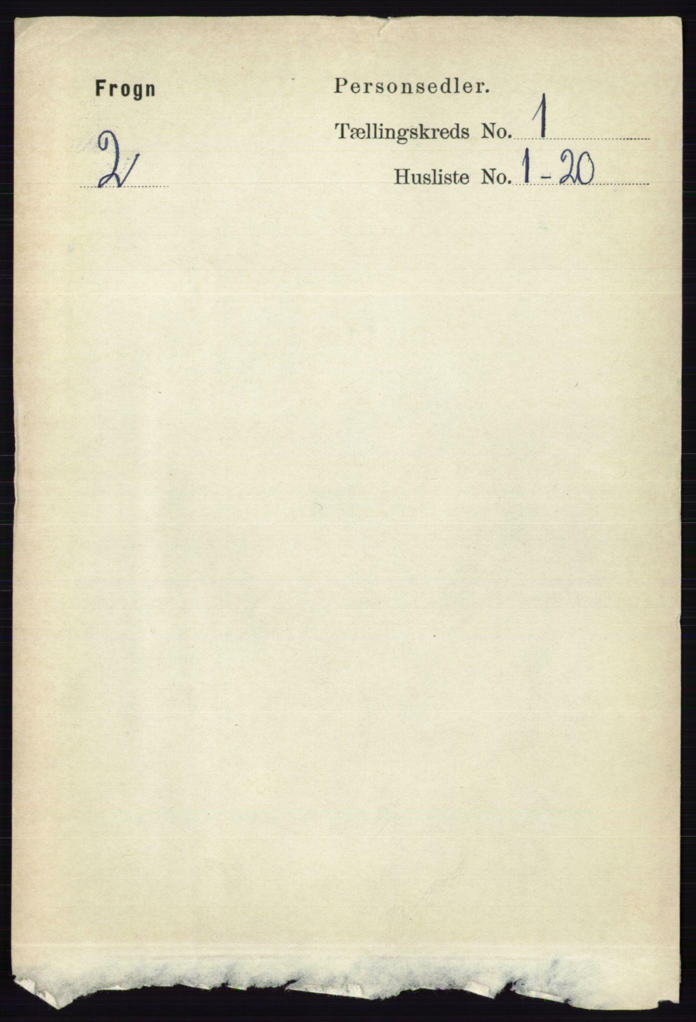RA, Folketelling 1891 for 0215 Frogn herred, 1891, s. 133