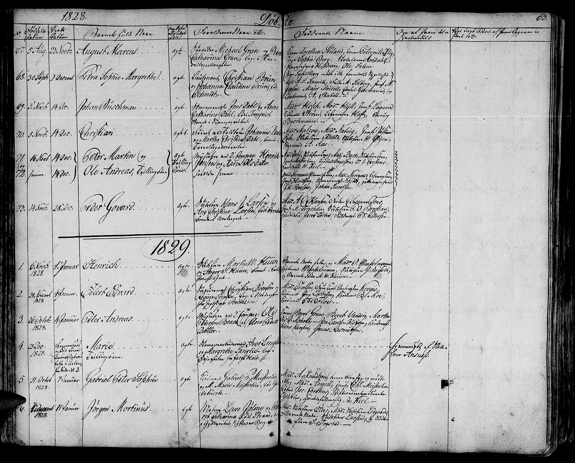 SAT, Ministerialprotokoller, klokkerbøker og fødselsregistre - Sør-Trøndelag, 602/L0108: Ministerialbok nr. 602A06, 1821-1839, s. 63
