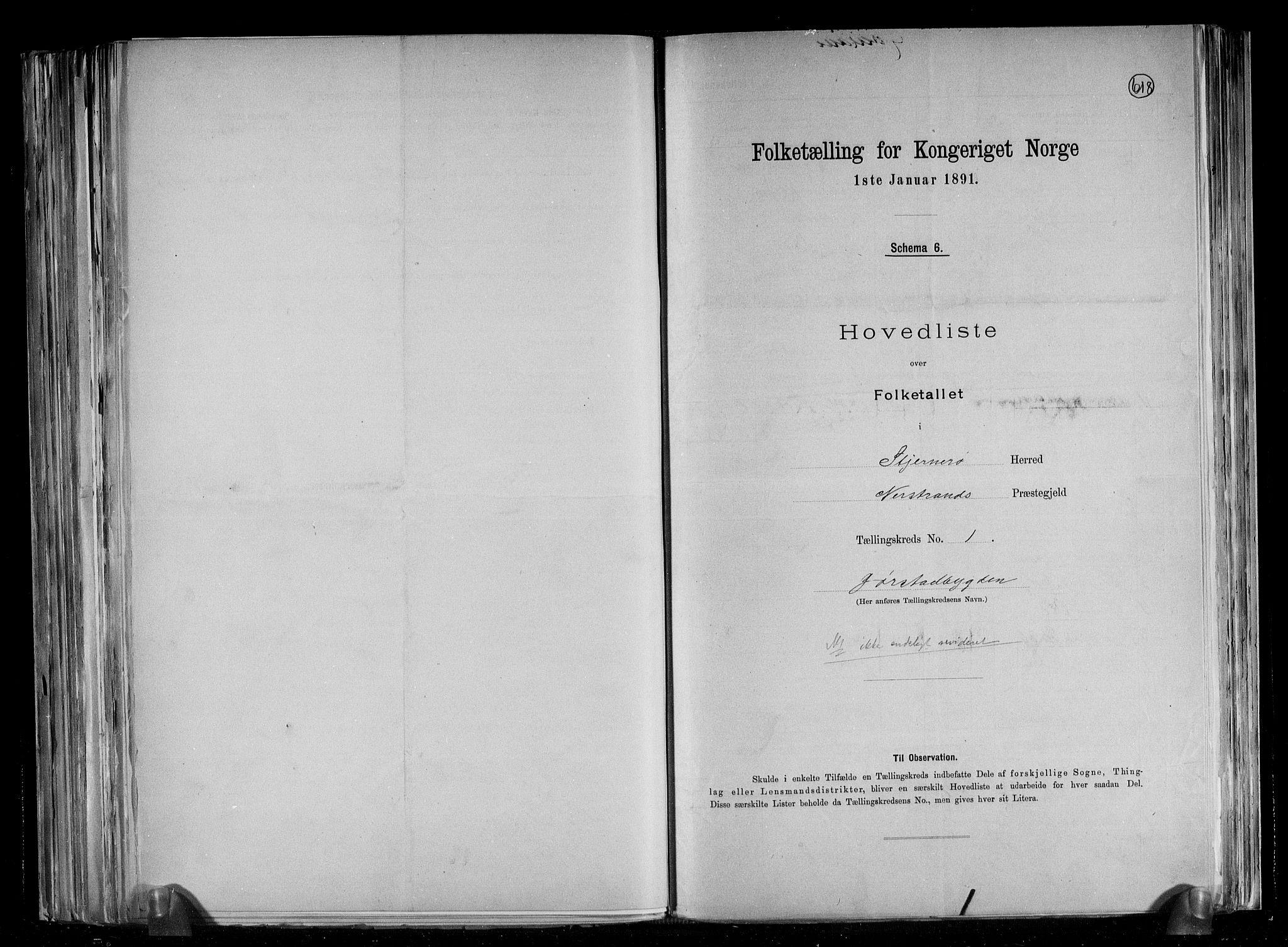 RA, Folketelling 1891 for 1140 Sjernarøy herred, 1891, s. 4