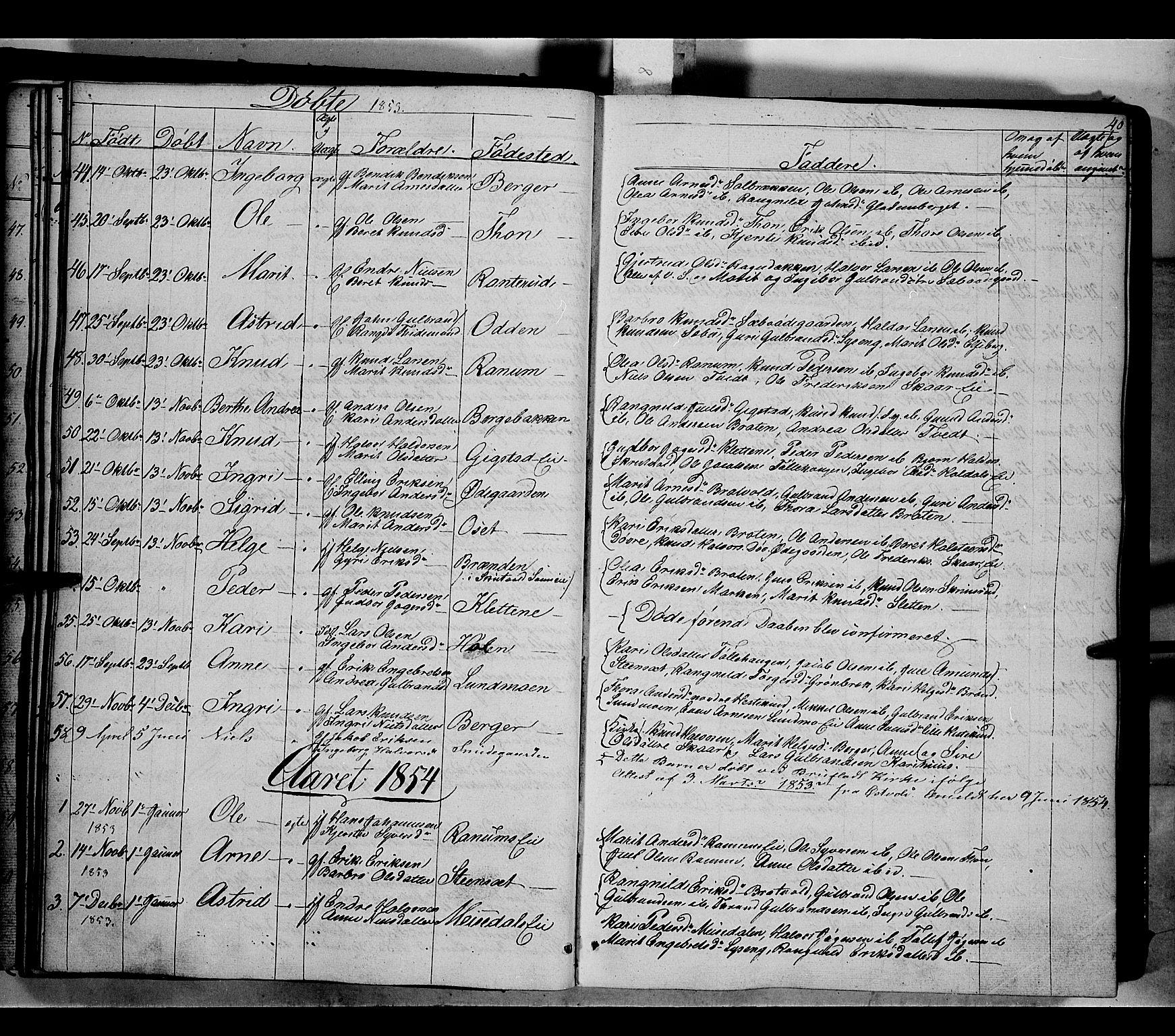 SAH, Nord-Aurdal prestekontor, Ministerialbok nr. 7, 1842-1863, s. 40