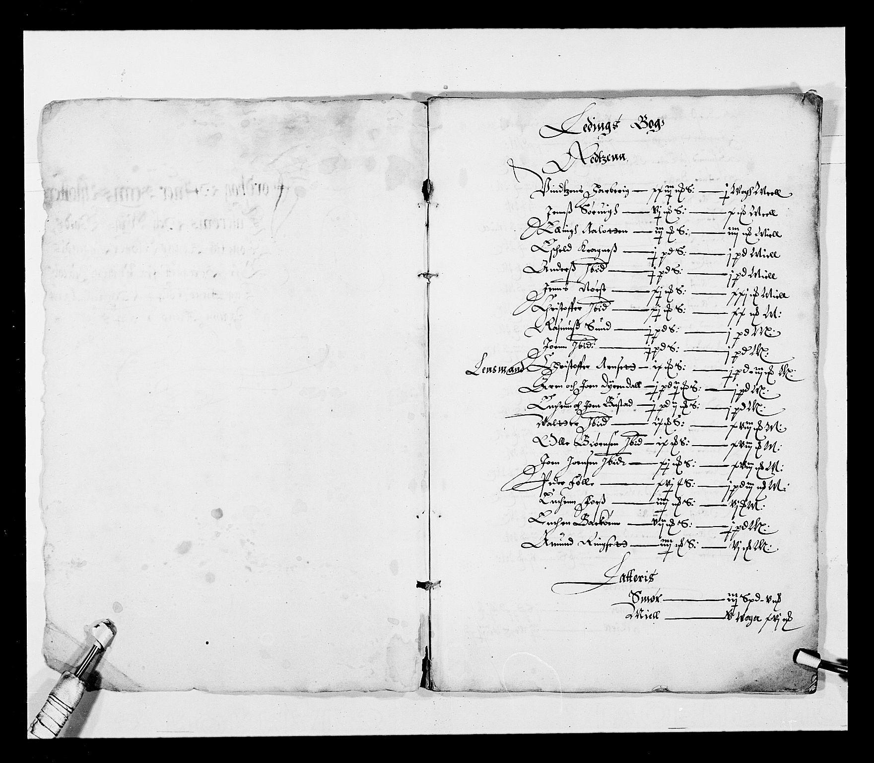 RA, Stattholderembetet 1572-1771, Ek/L0027: Jordebøker 1633-1658:, 1644-1645, s. 3