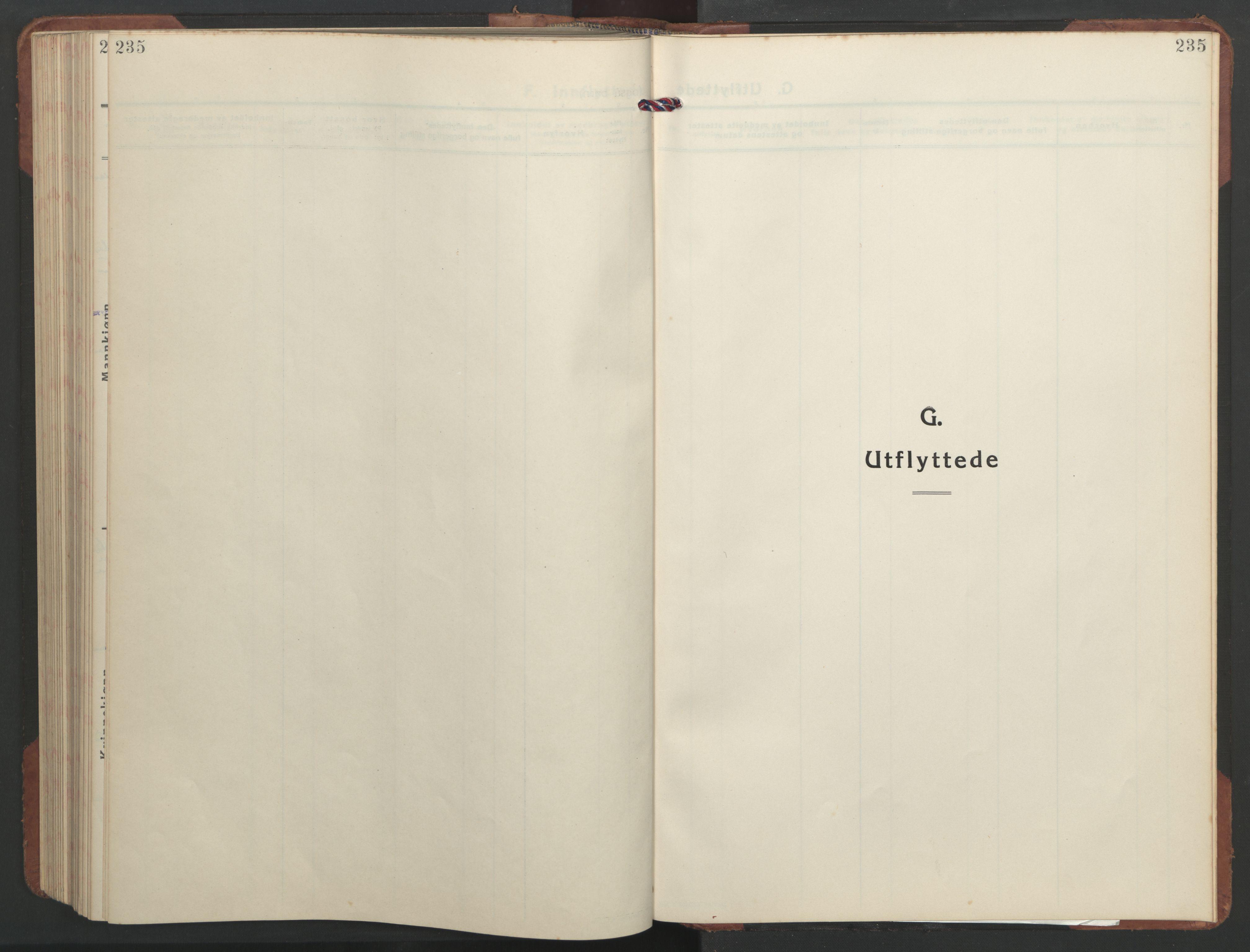 SAT, Ministerialprotokoller, klokkerbøker og fødselsregistre - Sør-Trøndelag, 637/L0564: Klokkerbok nr. 637C05, 1928-1968, s. 235
