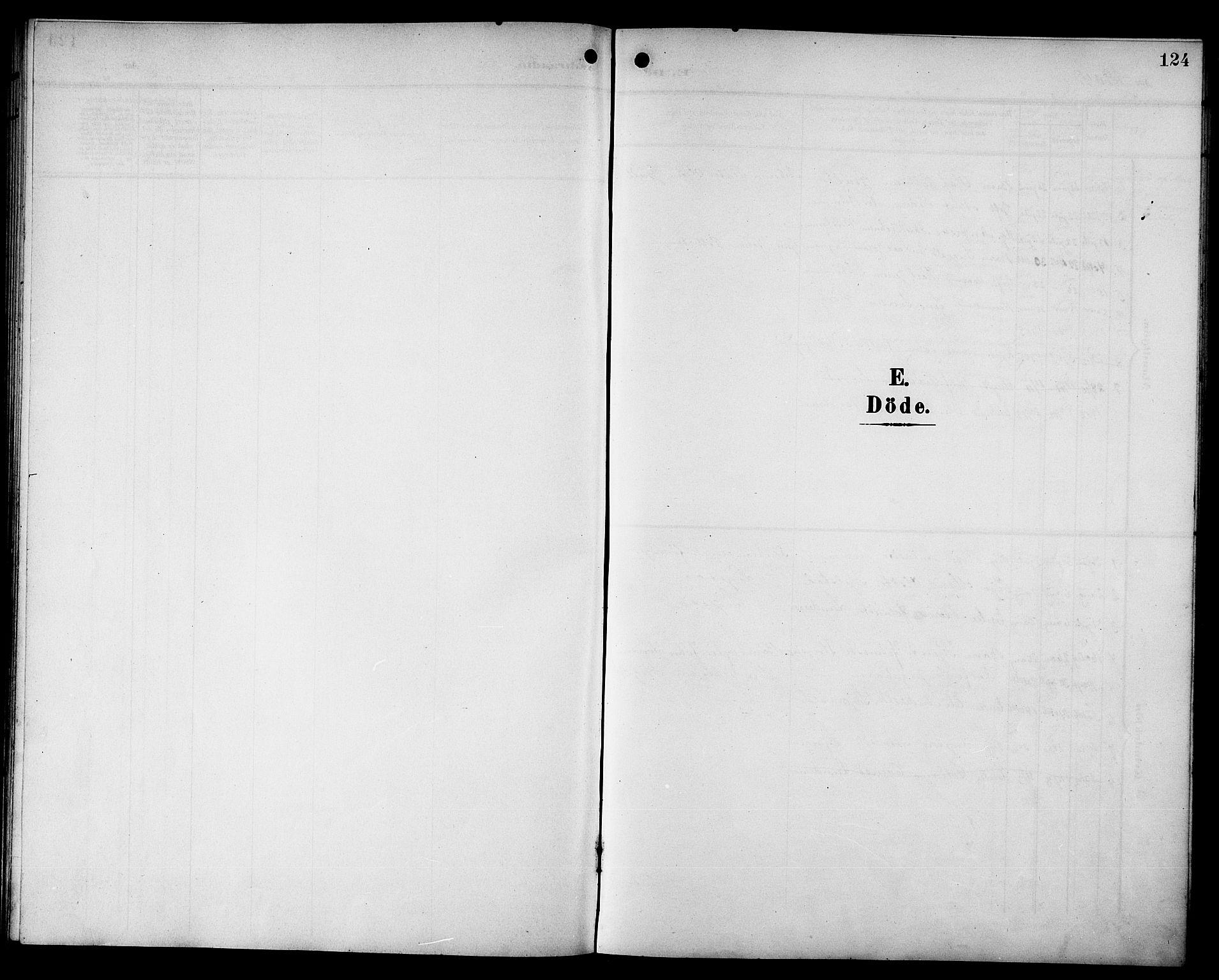 SAT, Ministerialprotokoller, klokkerbøker og fødselsregistre - Sør-Trøndelag, 692/L1112: Klokkerbok nr. 692C07, 1904-1918, s. 124