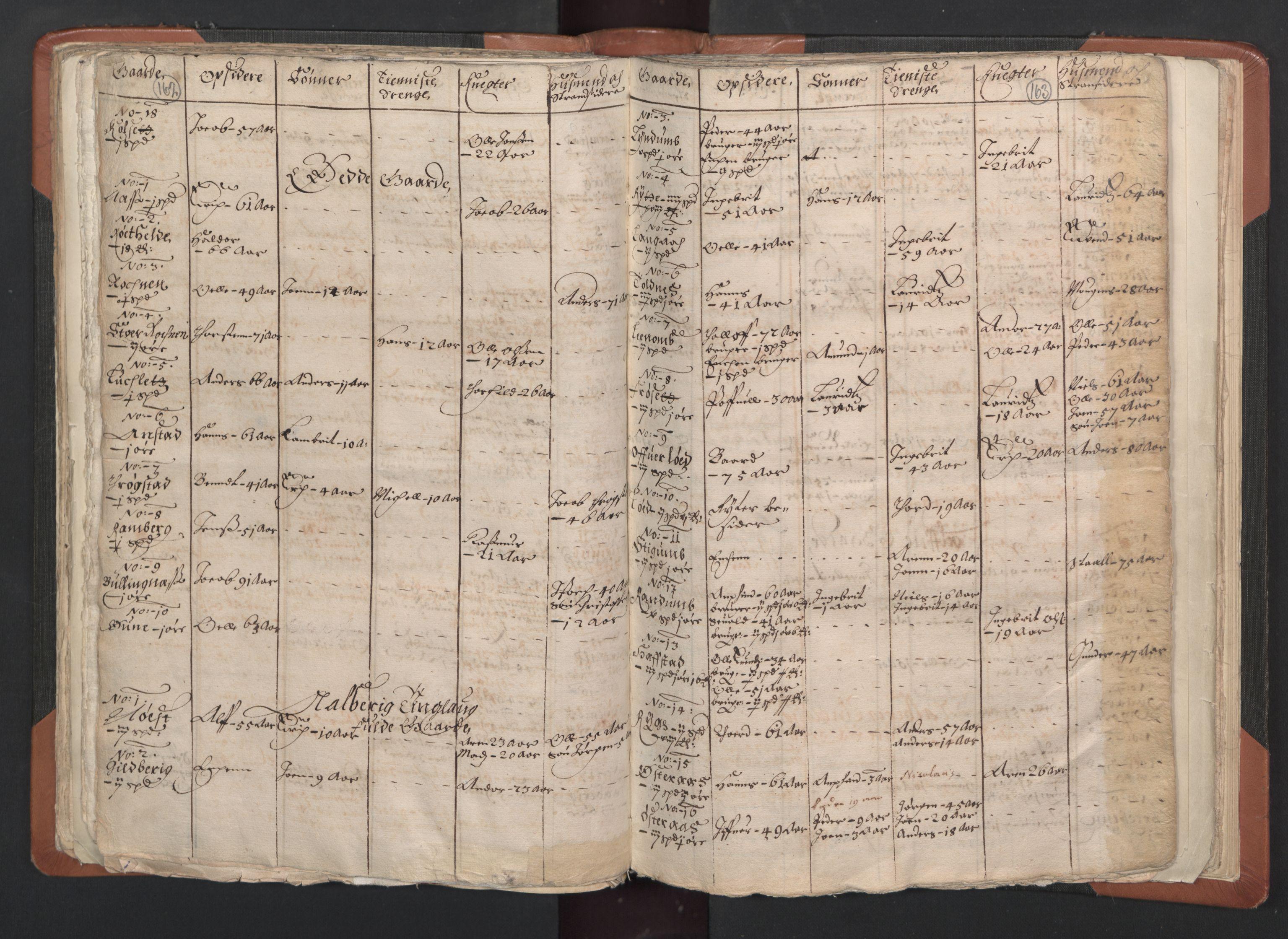 RA, Sogneprestenes manntall 1664-1666, nr. 33: Innherad prosti, 1664-1666, s. 162-163