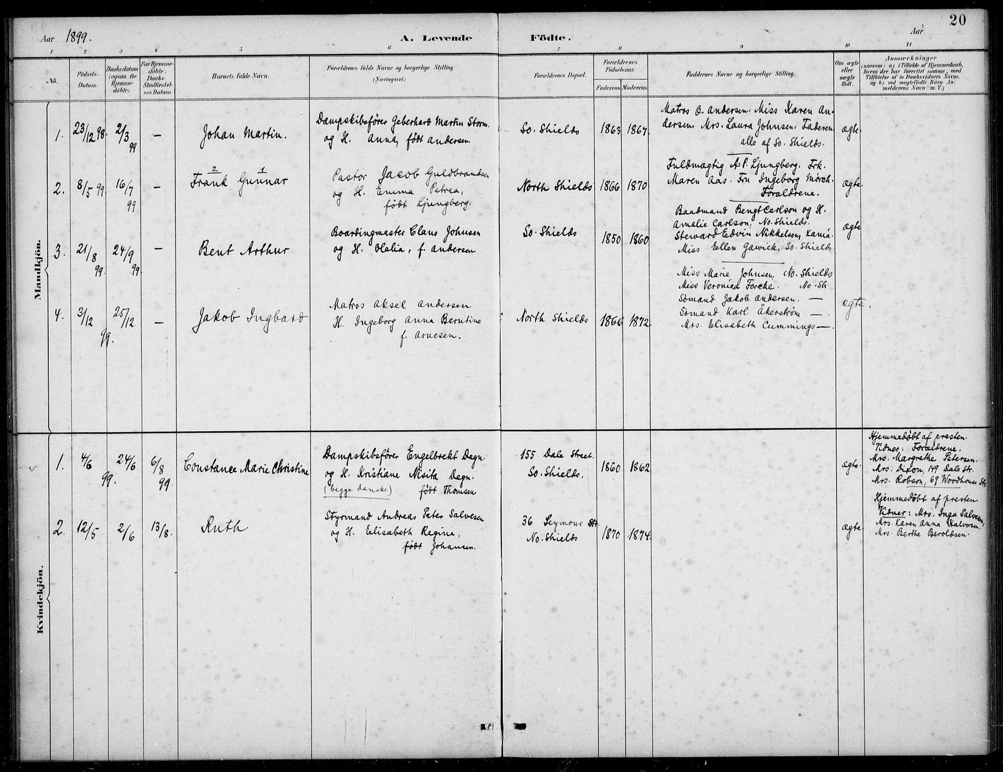 SAB, Den Norske Sjømannsmisjon i utlandet*, Ministerialbok nr. A 2, 1883-1936, s. 20