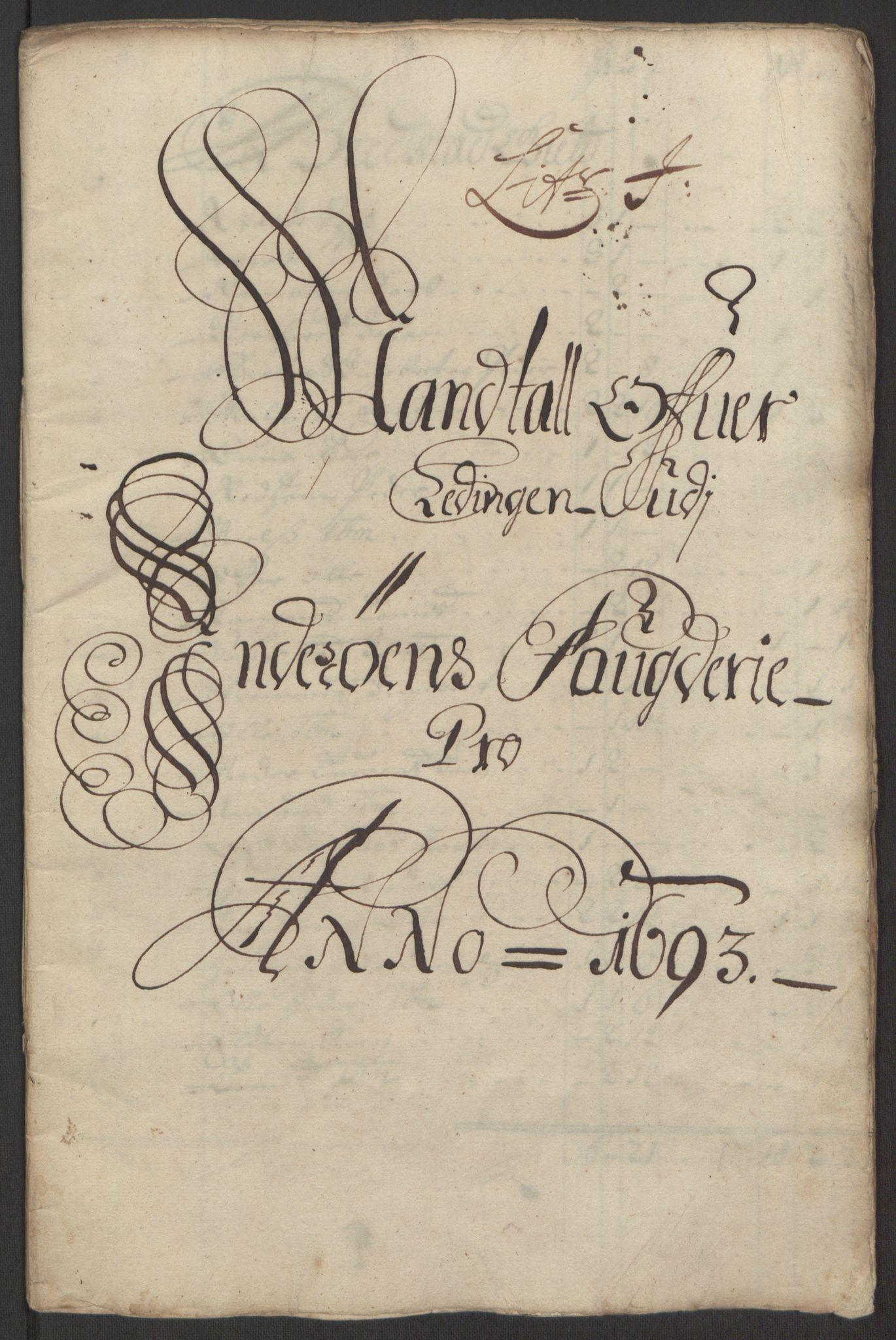 RA, Rentekammeret inntil 1814, Reviderte regnskaper, Fogderegnskap, R63/L4308: Fogderegnskap Inderøy, 1692-1694, s. 478