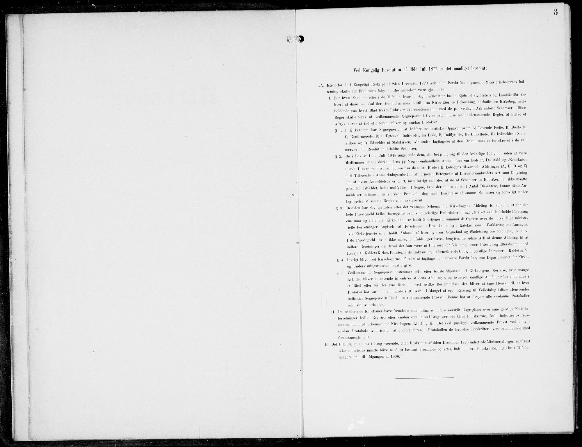 SAB, Haus Sokneprestembete, H/Haa: Ministerialbok nr. B  2, 1899-1912, s. 3