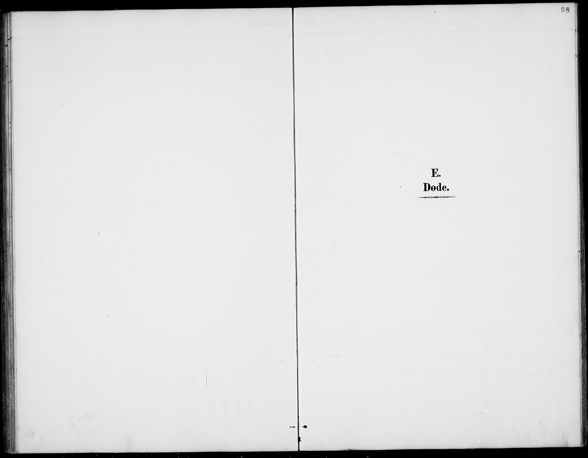 SAKO, Rauland kirkebøker, G/Gb/L0002: Klokkerbok nr. II 2, 1887-1937, s. 98