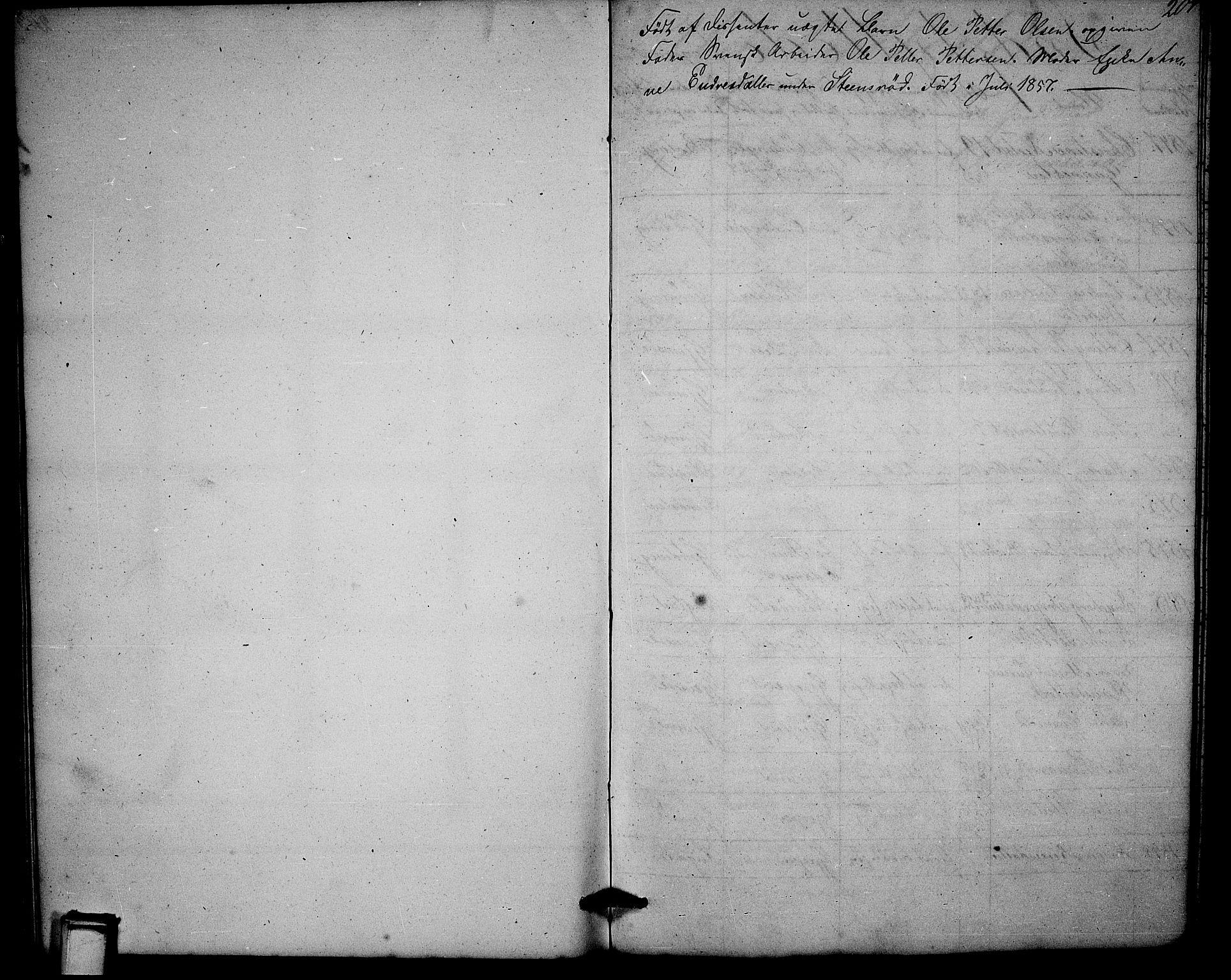 SAKO, Solum kirkebøker, G/Ga/L0003: Klokkerbok nr. I 3, 1848-1859, s. 204