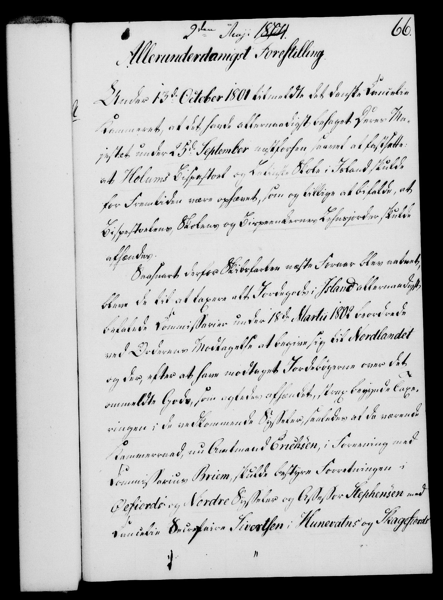 RA, Rentekammeret, Kammerkanselliet, G/Gf/Gfa/L0086: Norsk relasjons- og resolusjonsprotokoll (merket RK 52.86), 1804, s. 395
