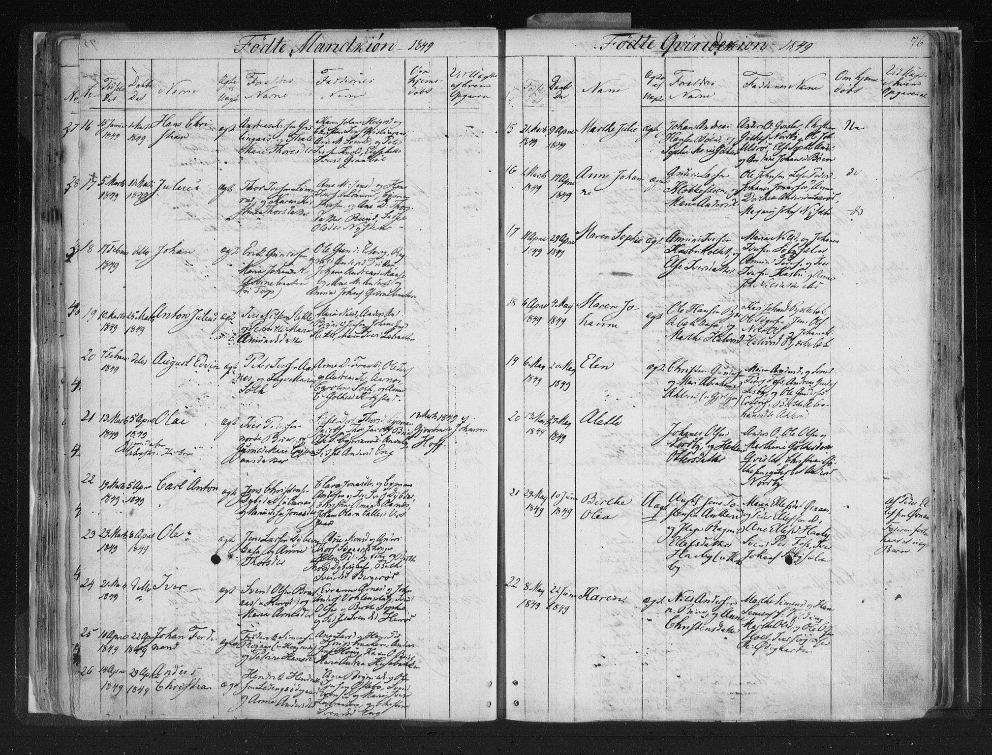 SAO, Aremark prestekontor Kirkebøker, F/Fc/L0002: Ministerialbok nr. III 2, 1834-1849, s. 76