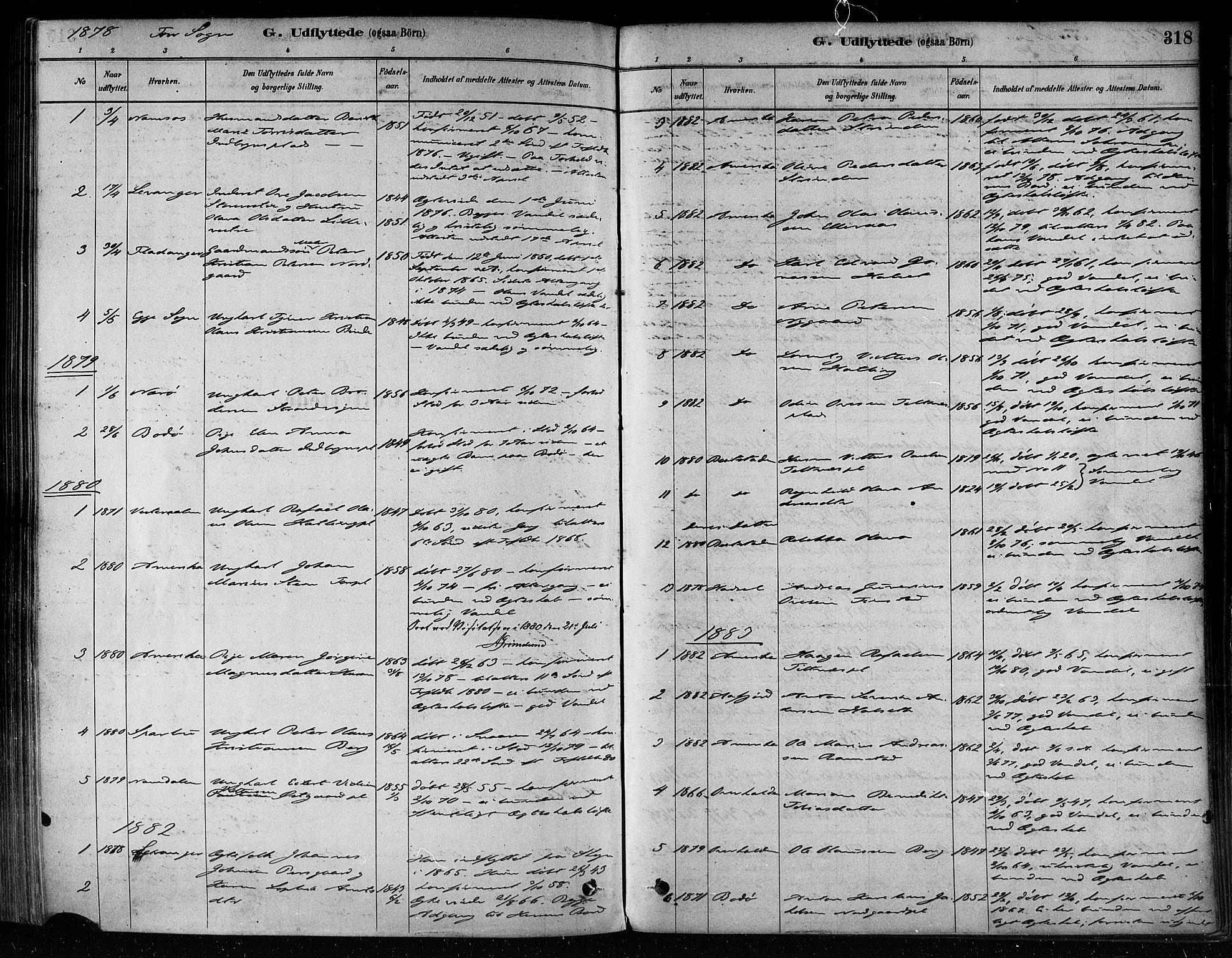 SAT, Ministerialprotokoller, klokkerbøker og fødselsregistre - Nord-Trøndelag, 746/L0448: Ministerialbok nr. 746A07 /1, 1878-1900, s. 318