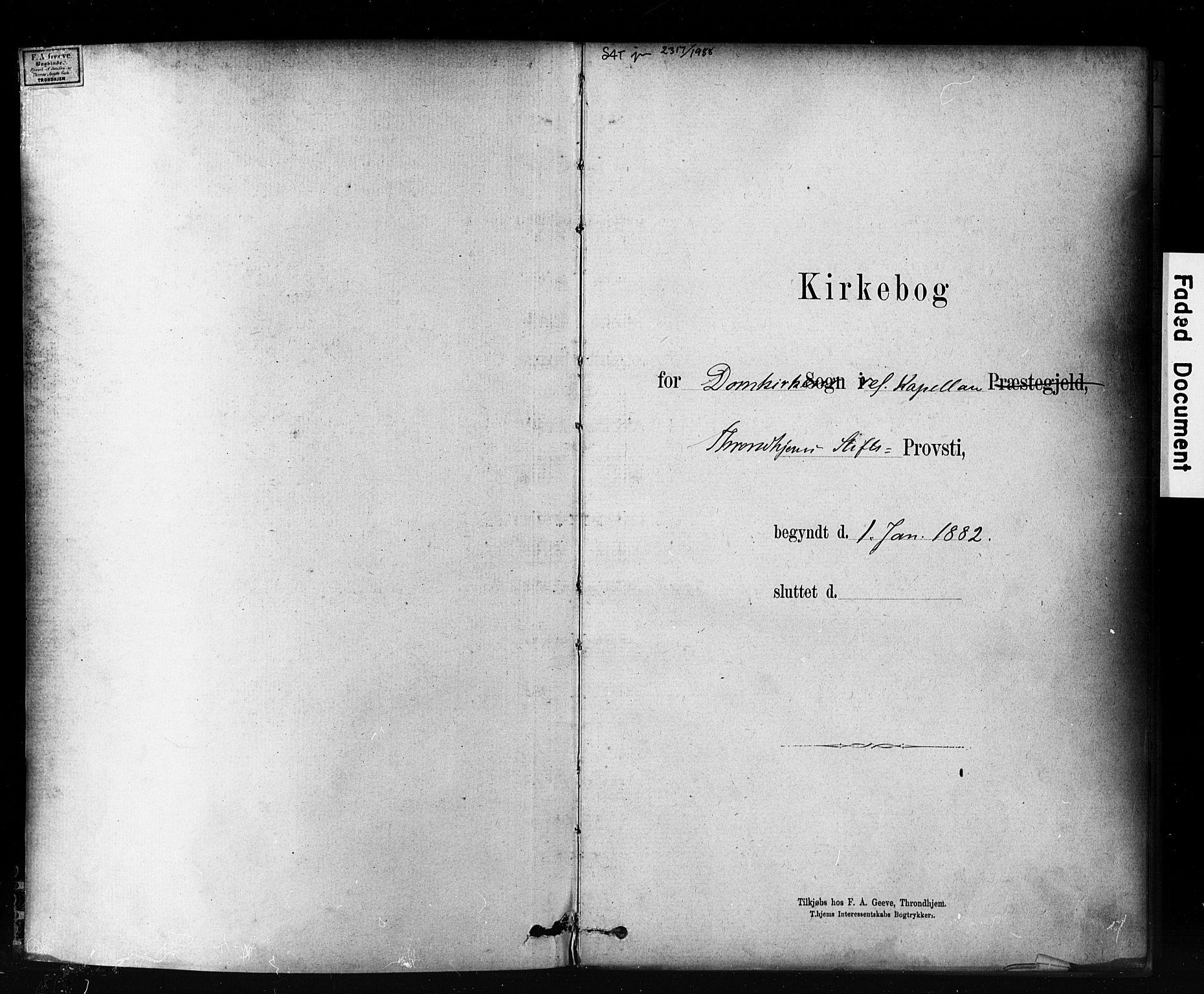 SAT, Ministerialprotokoller, klokkerbøker og fødselsregistre - Sør-Trøndelag, 601/L0071: Residerende kapellans bok nr. 601B04, 1882-1931