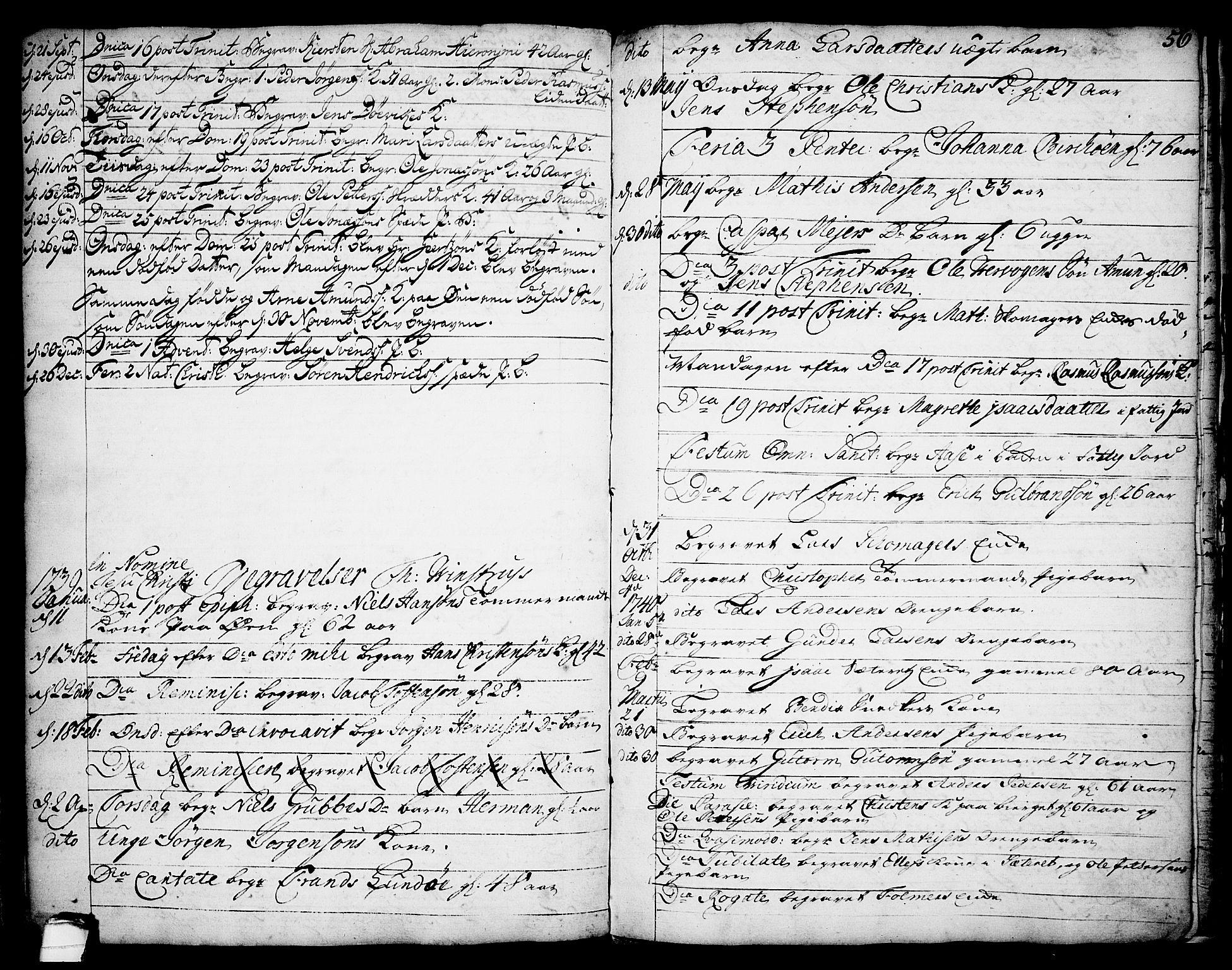 SAKO, Brevik kirkebøker, F/Fa/L0002: Ministerialbok nr. 2, 1720-1764, s. 56