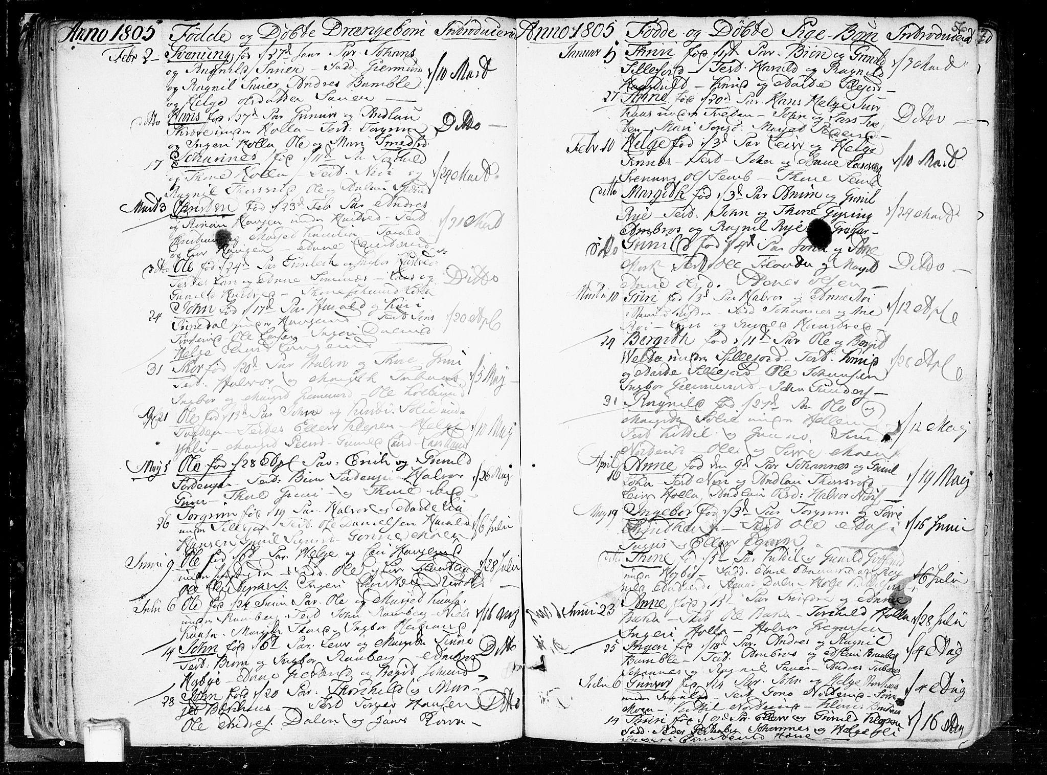 SAKO, Heddal kirkebøker, F/Fa/L0004: Ministerialbok nr. I 4, 1784-1814, s. 56