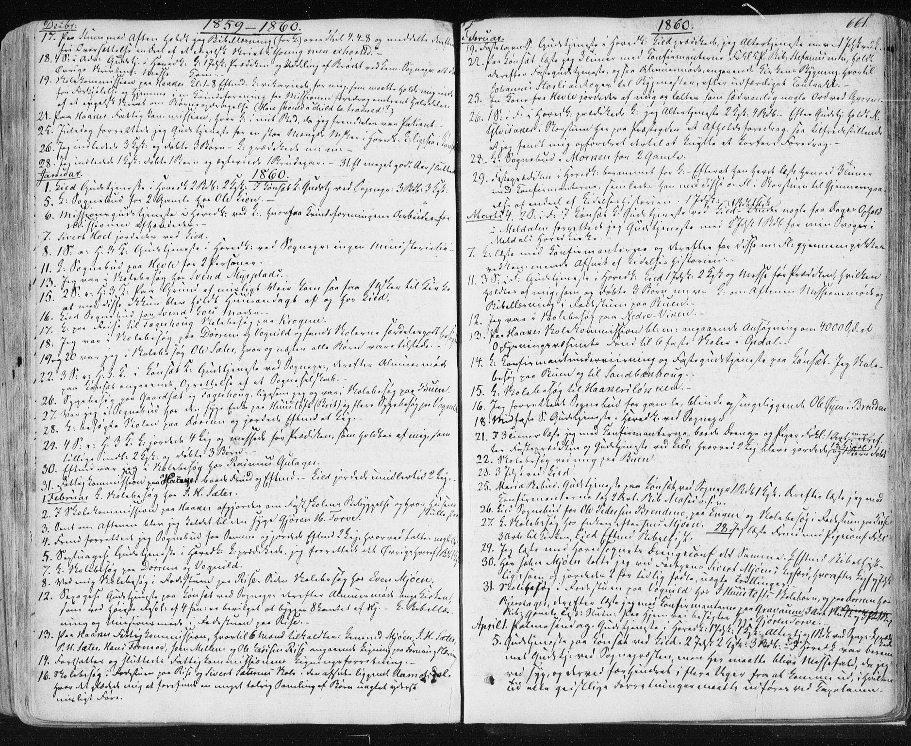 SAT, Ministerialprotokoller, klokkerbøker og fødselsregistre - Sør-Trøndelag, 678/L0899: Ministerialbok nr. 678A08, 1848-1872, s. 661