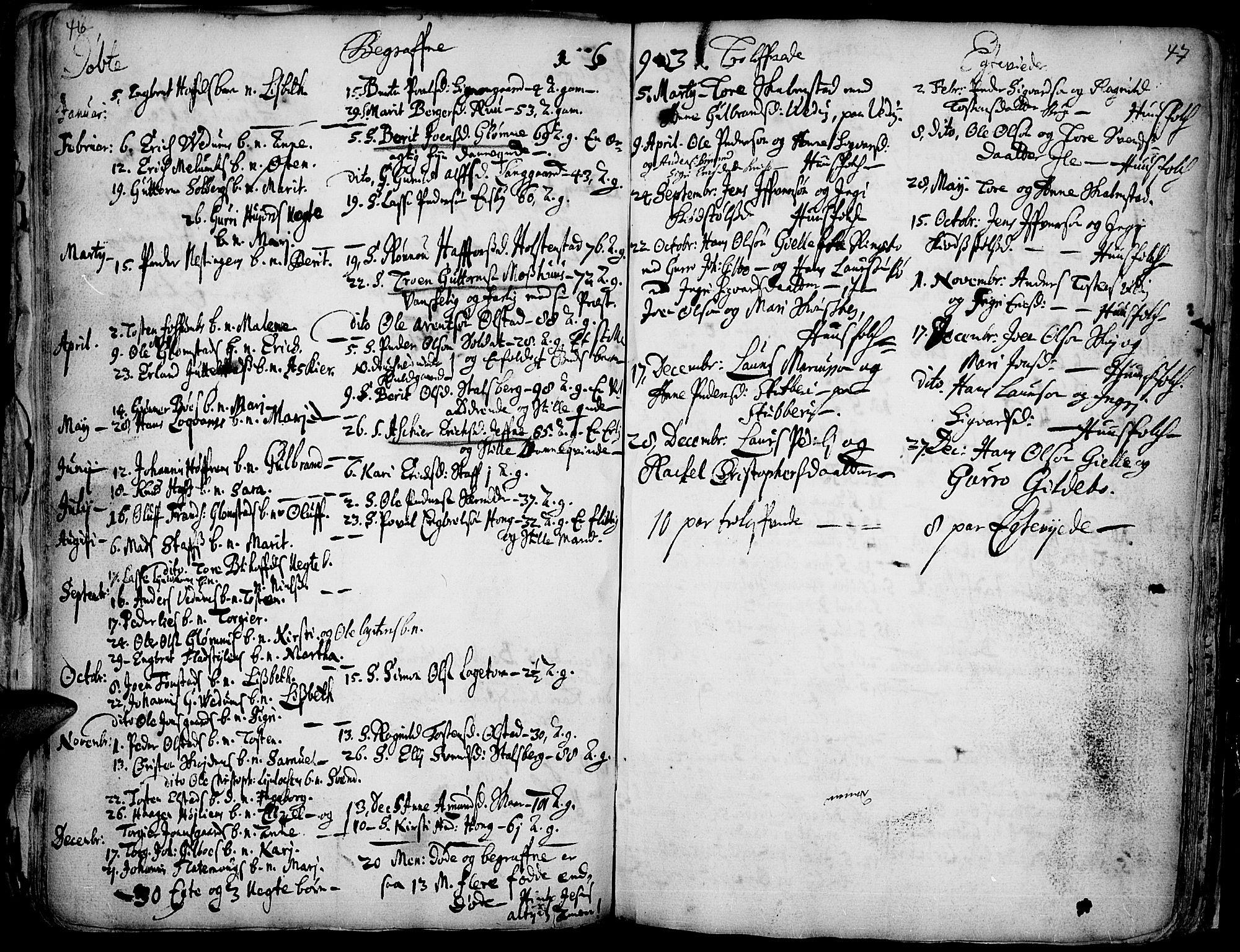 SAH, Øyer prestekontor, Ministerialbok nr. 1, 1671-1727, s. 46-47