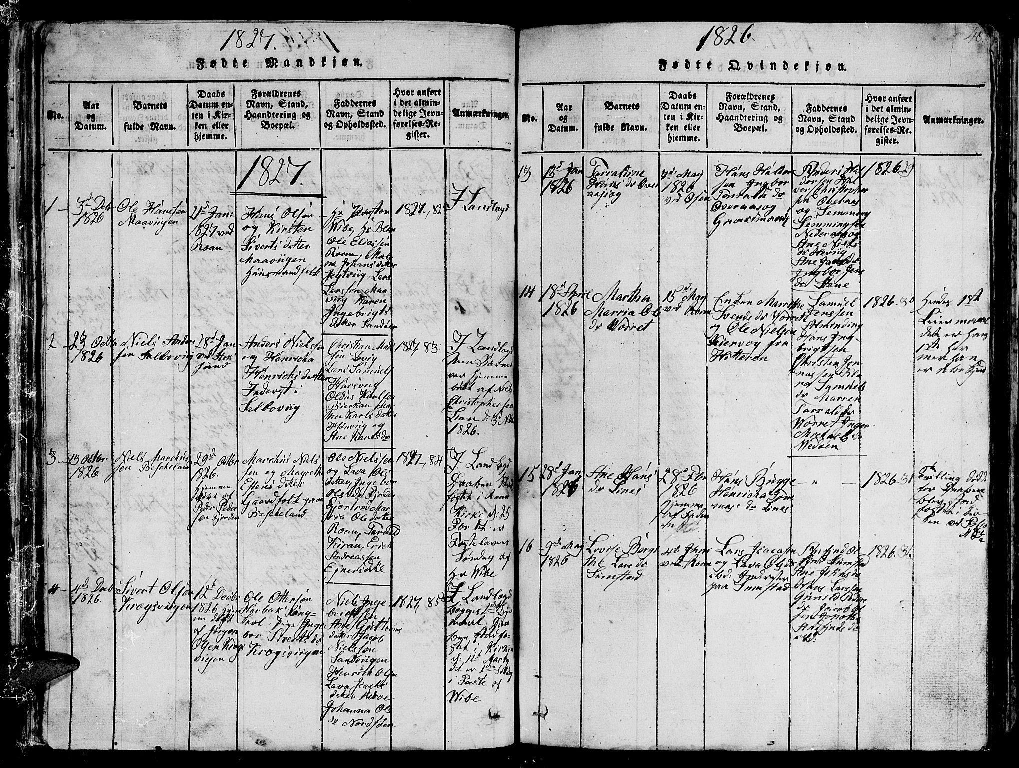 SAT, Ministerialprotokoller, klokkerbøker og fødselsregistre - Sør-Trøndelag, 657/L0714: Klokkerbok nr. 657C01, 1818-1868, s. 48