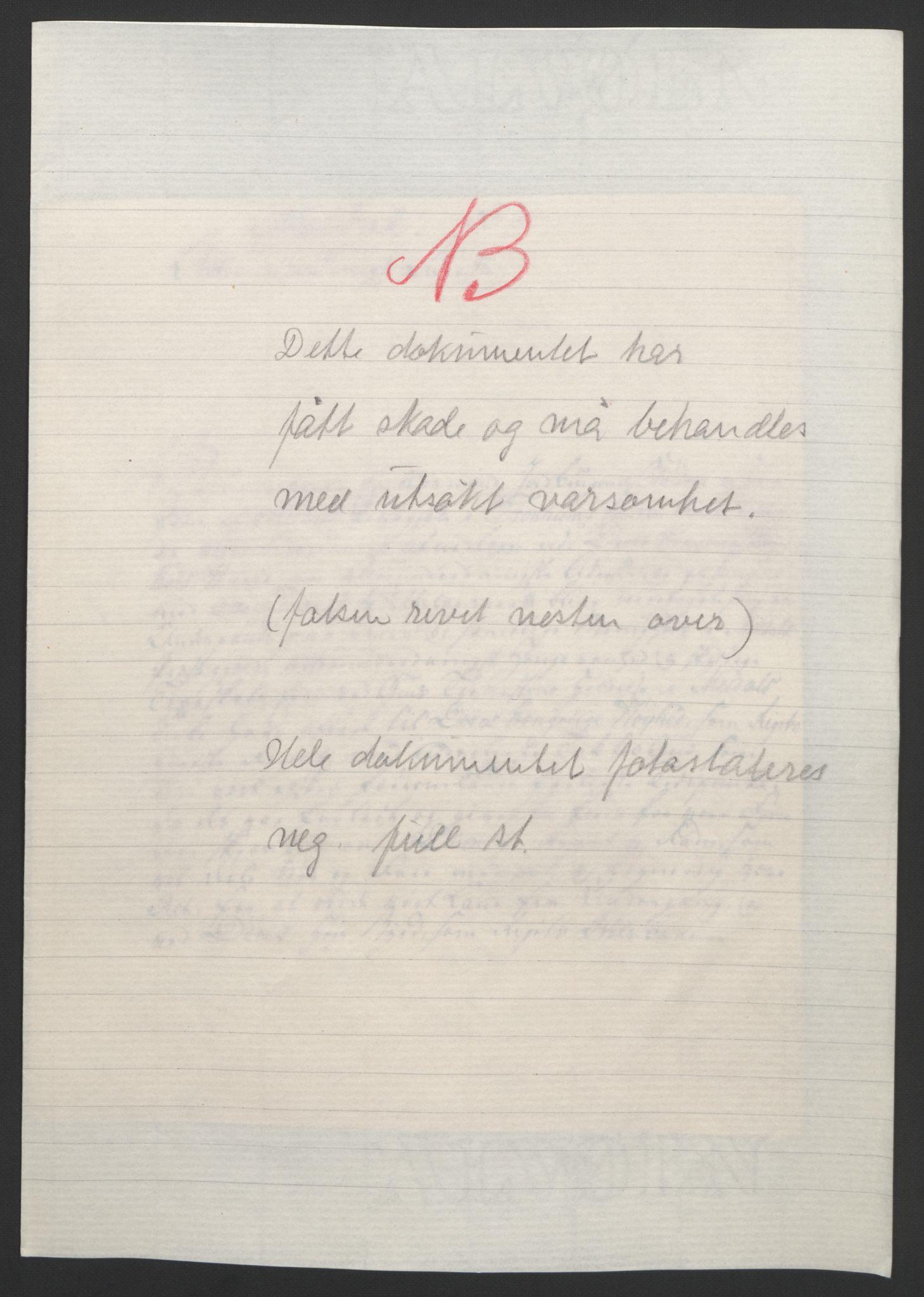 RA, Statsrådssekretariatet, D/Db/L0008: Fullmakter for Eidsvollsrepresentantene i 1814. , 1814, s. 440