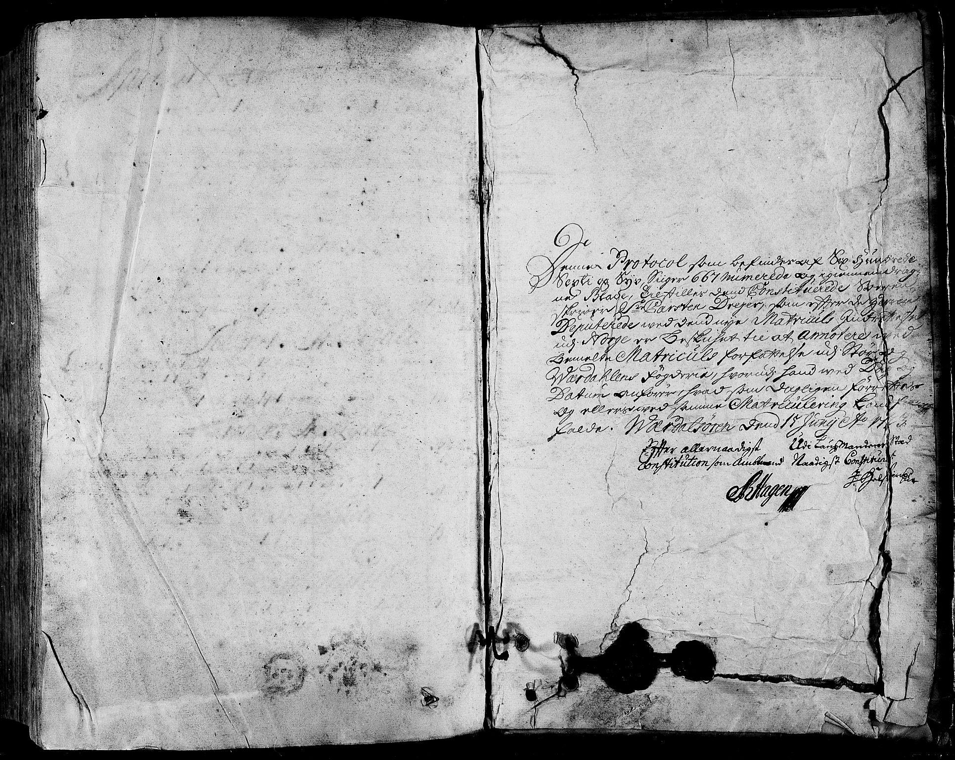 RA, Rentekammeret inntil 1814, Realistisk ordnet avdeling, N/Nb/Nbf/L0164: Stjørdal og Verdal eksaminasjonsprotokoll, 1723, s. 667b