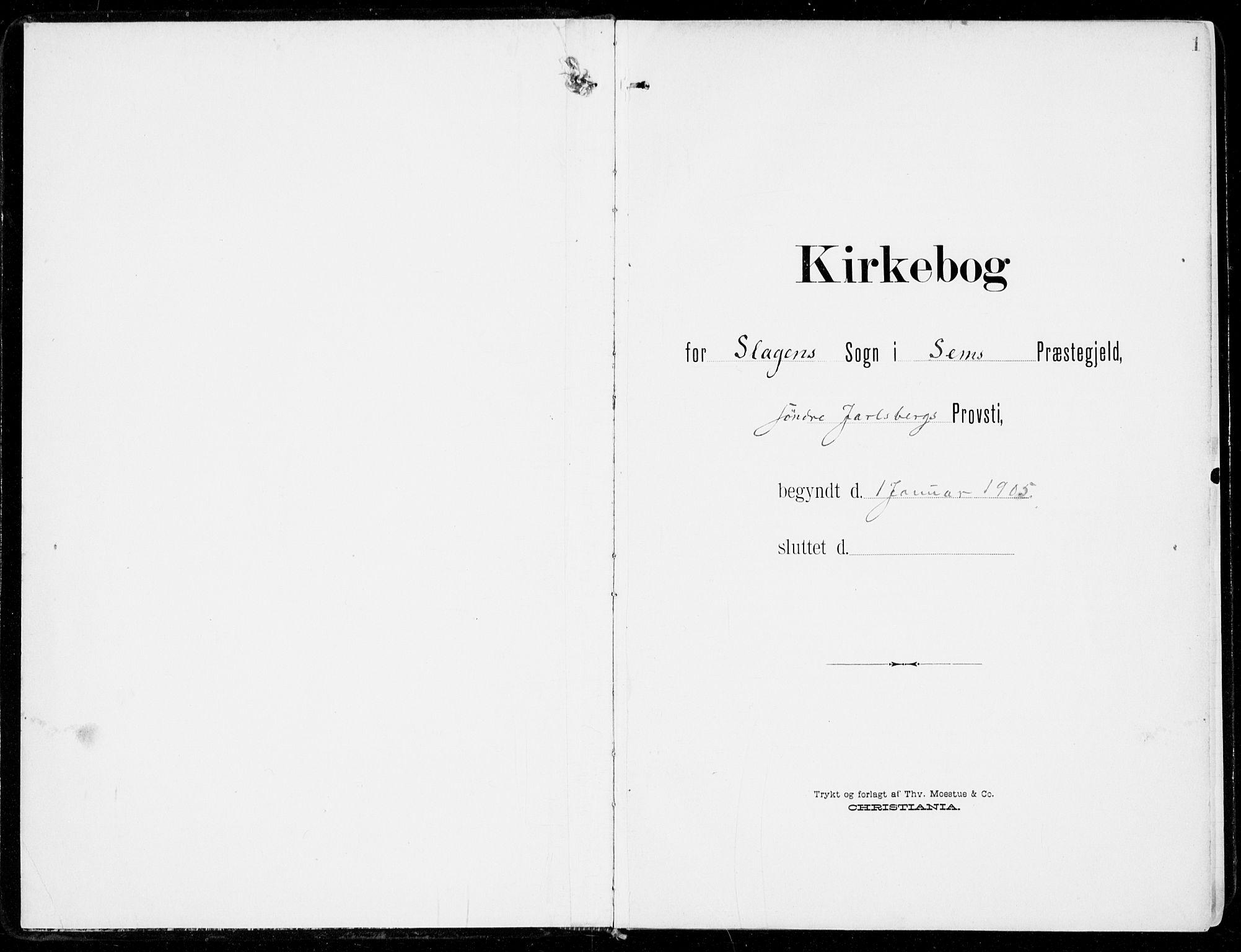 SAKO, Sem kirkebøker, F/Fb/L0006: Ministerialbok nr. II 6, 1905-1918, s. 1