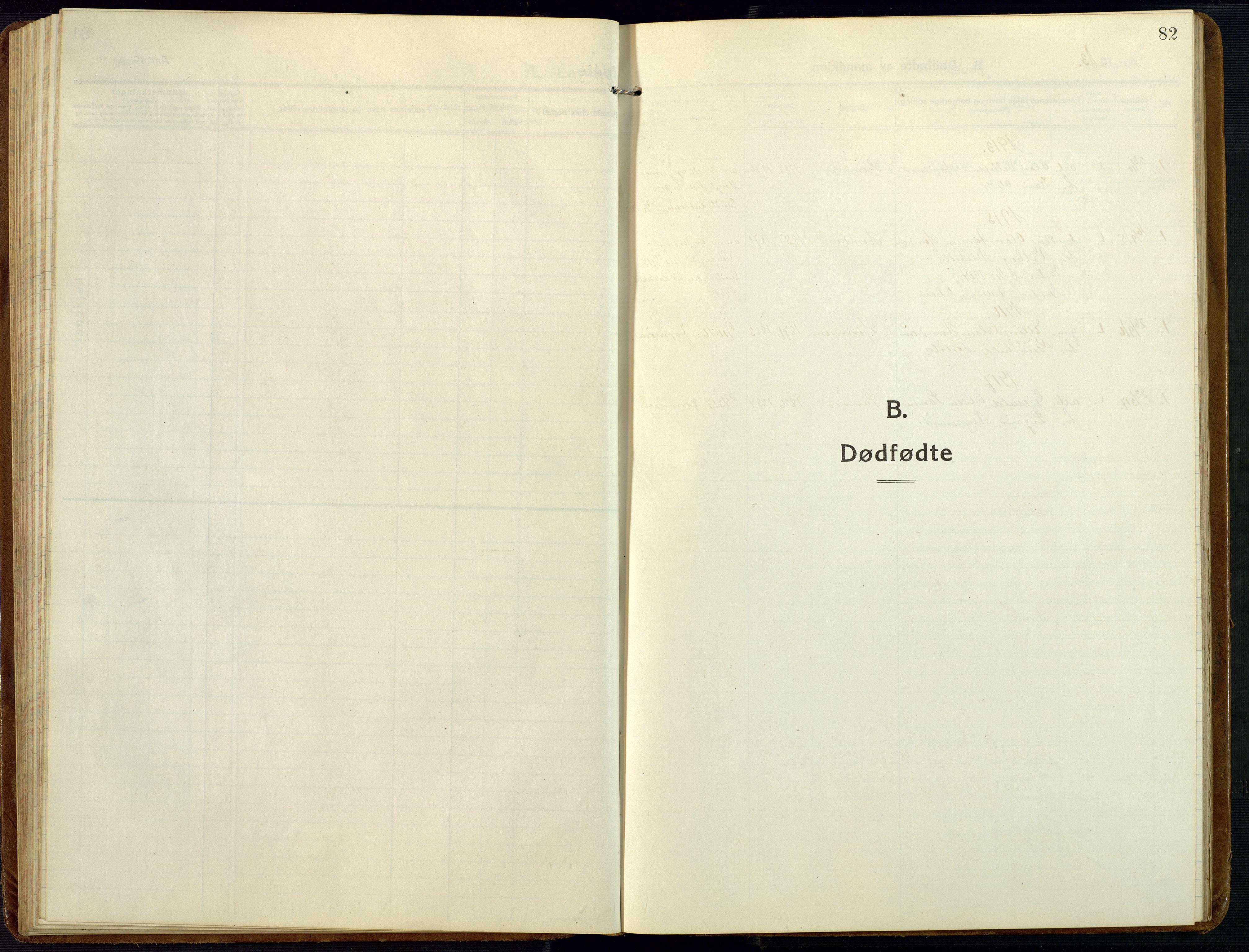SAK, Åmli sokneprestkontor, F/Fb/Fba/L0003: Klokkerbok nr. B 3, 1912-1974, s. 82