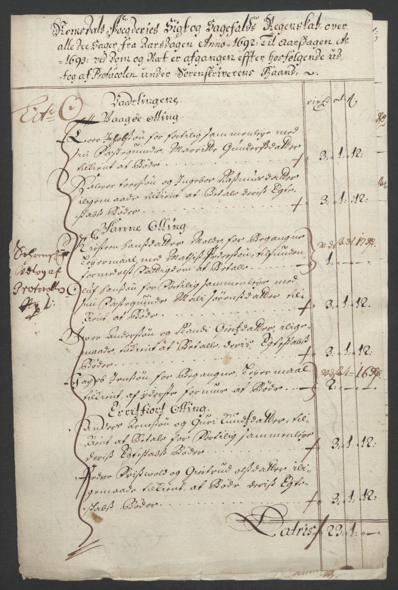 RA, Rentekammeret inntil 1814, Reviderte regnskaper, Fogderegnskap, R55/L3650: Fogderegnskap Romsdal, 1692, s. 162