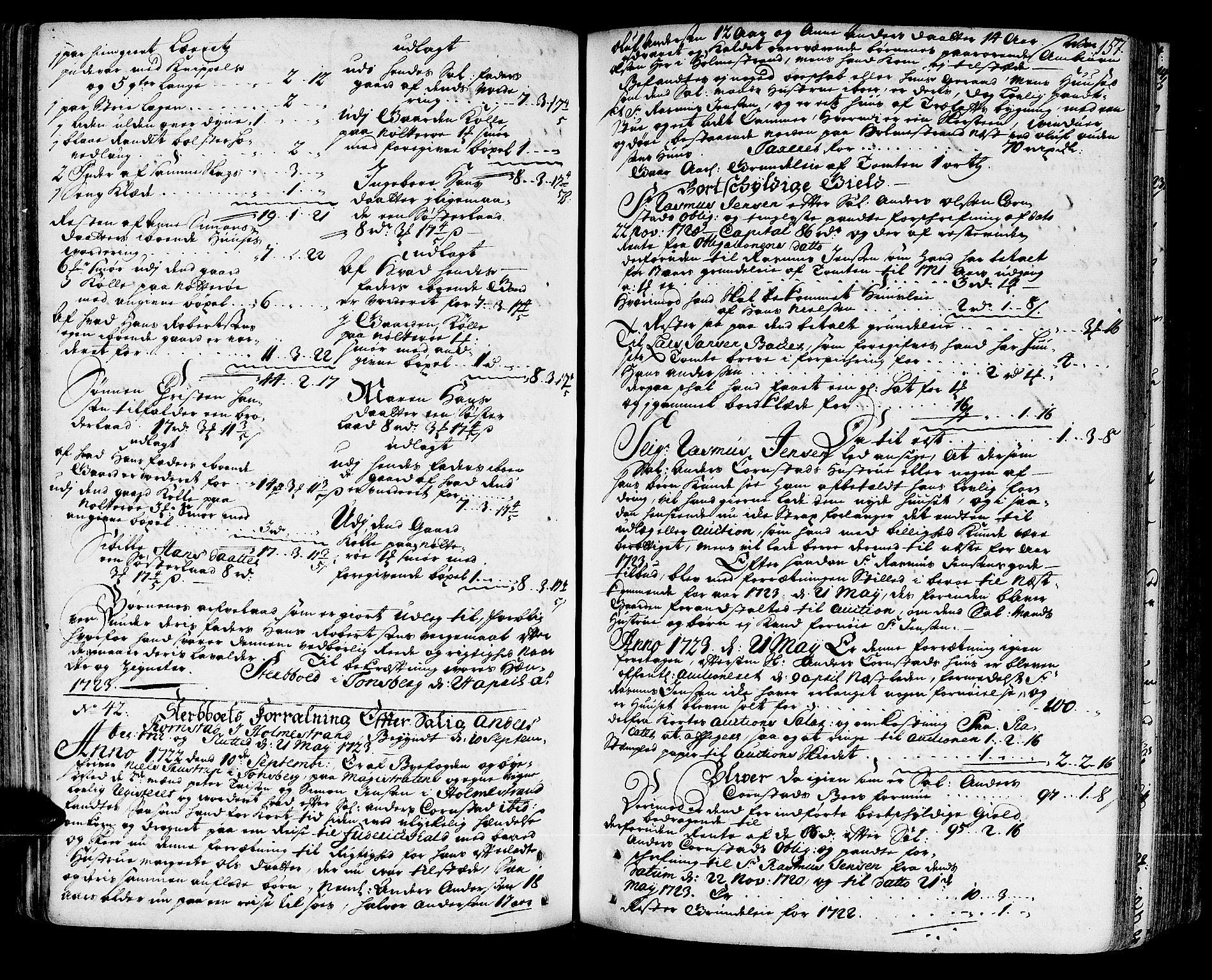 SAKO, Tønsberg byfogd, H/Hb/L0002: Skifteprotokoll, 1720-1744, s. 156b-157a