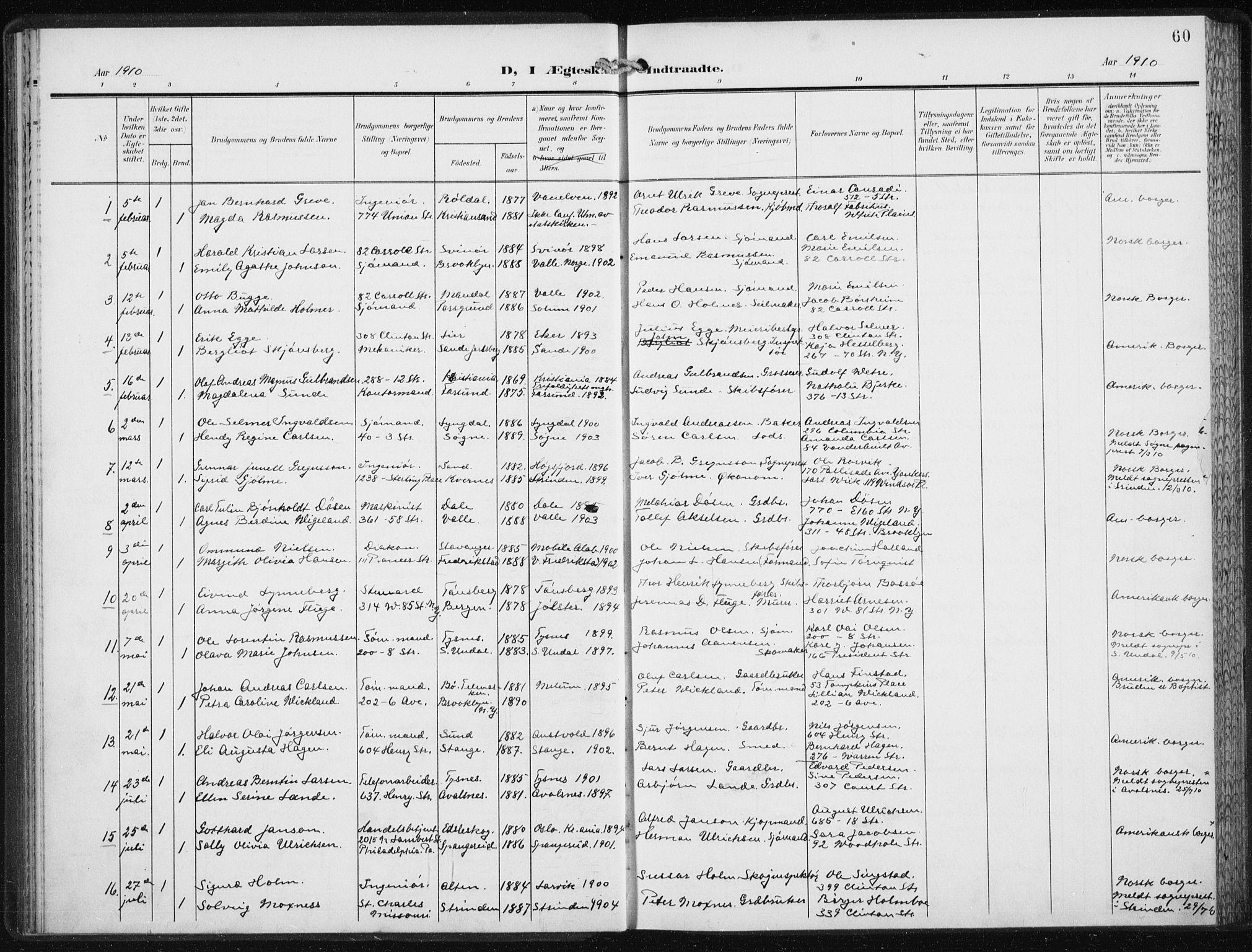 SAB, Den Norske Sjømannsmisjon i utlandet*, Ministerialbok nr. A 6, 1909-1914, s. 60