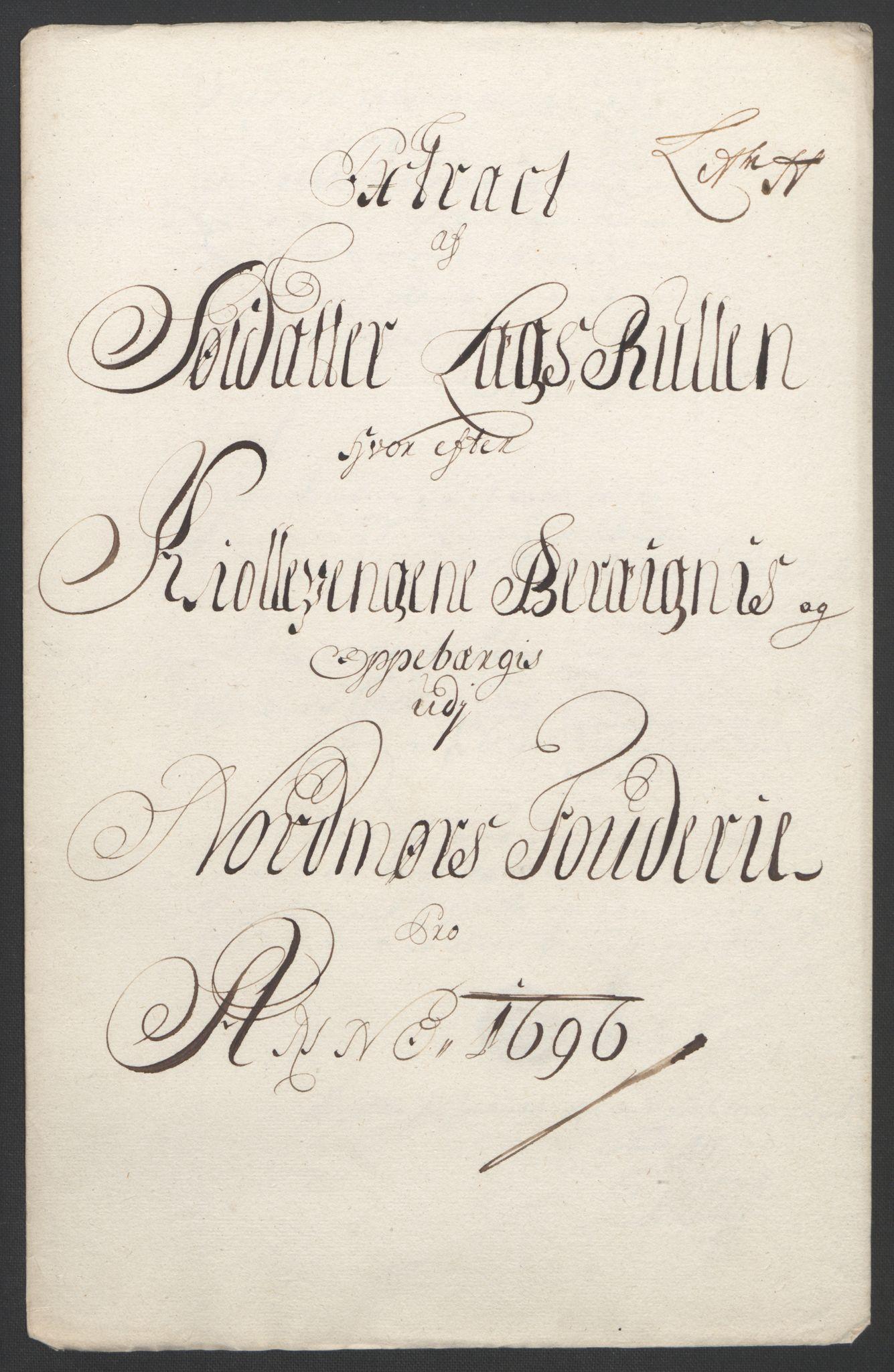 RA, Rentekammeret inntil 1814, Reviderte regnskaper, Fogderegnskap, R56/L3736: Fogderegnskap Nordmøre, 1694-1696, s. 426