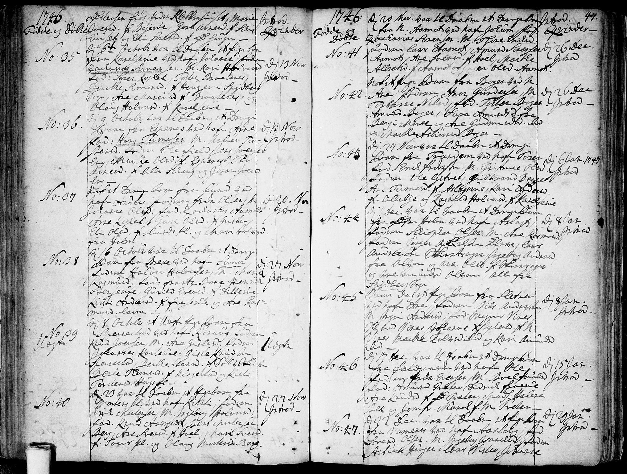 SAO, Skiptvet prestekontor Kirkebøker, F/Fa/L0002: Ministerialbok nr. 2, 1734-1759, s. 47