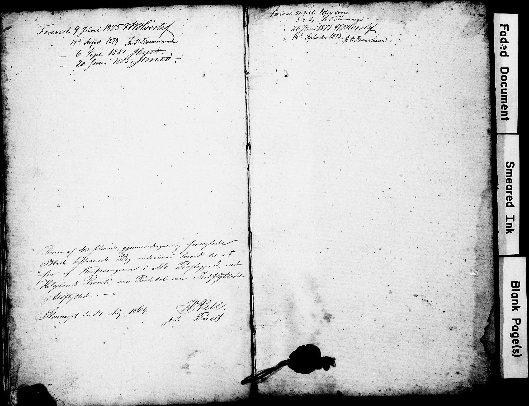 SAT, Ministerialprotokoller, klokkerbøker og fødselsregistre - Nordland, 827/L0419: Klokkerbok nr. 827C08, 1864-1885