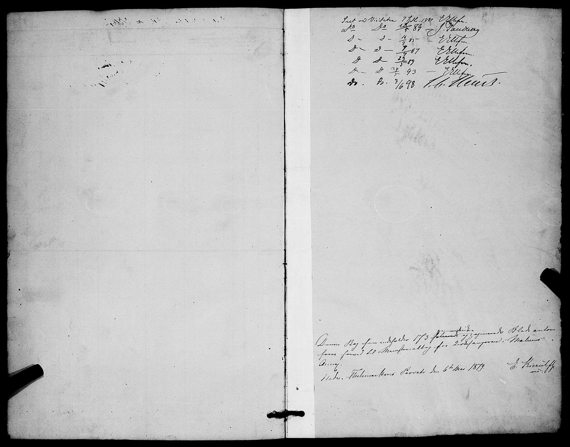 SAKO, Solum kirkebøker, G/Gb/L0003: Klokkerbok nr. II 3, 1880-1898