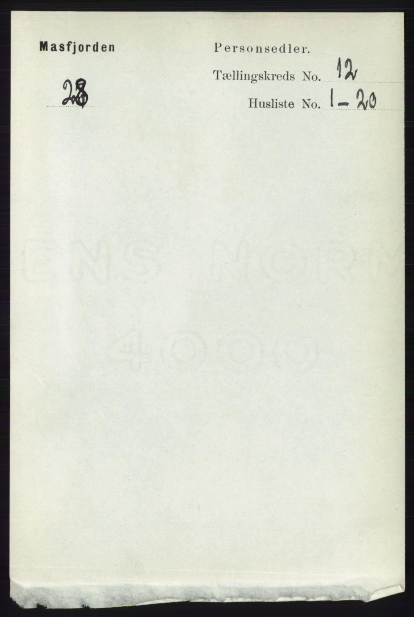 RA, Folketelling 1891 for 1266 Masfjorden herred, 1891, s. 2452