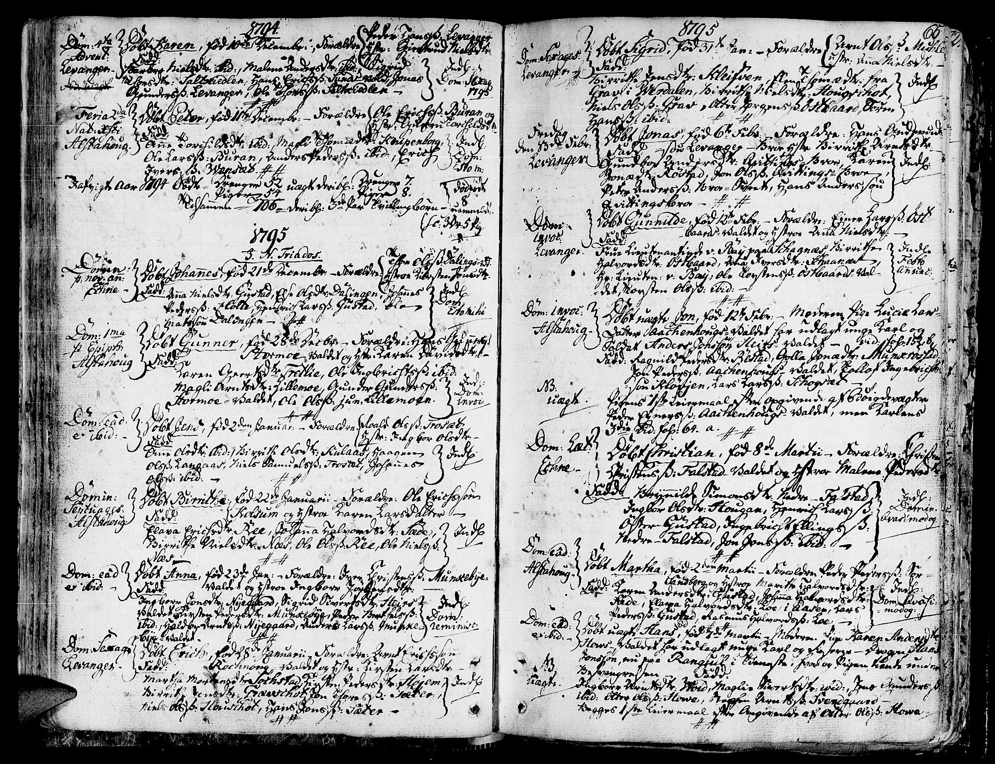 SAT, Ministerialprotokoller, klokkerbøker og fødselsregistre - Nord-Trøndelag, 717/L0142: Ministerialbok nr. 717A02 /1, 1783-1809, s. 65