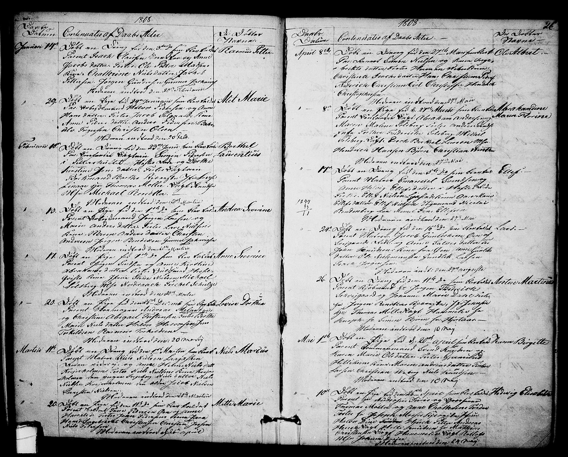SAKO, Kragerø kirkebøker, F/Fa/L0003: Ministerialbok nr. 3, 1802-1813, s. 26