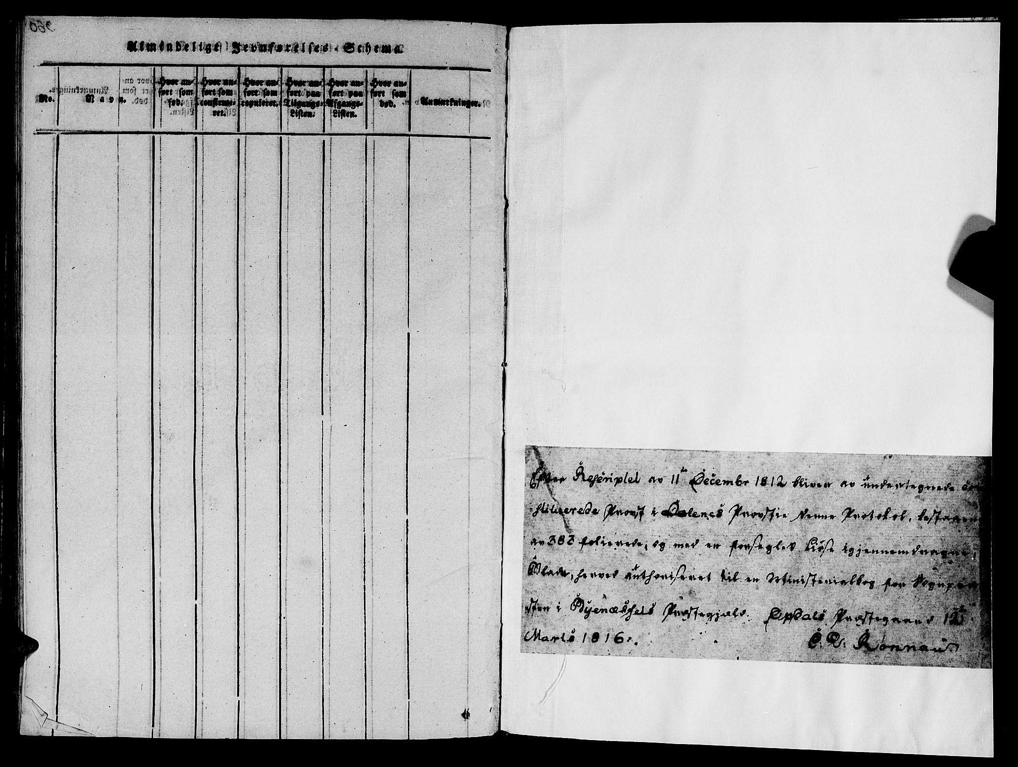 SAT, Ministerialprotokoller, klokkerbøker og fødselsregistre - Sør-Trøndelag, 612/L0372: Ministerialbok nr. 612A06 /1, 1816-1828