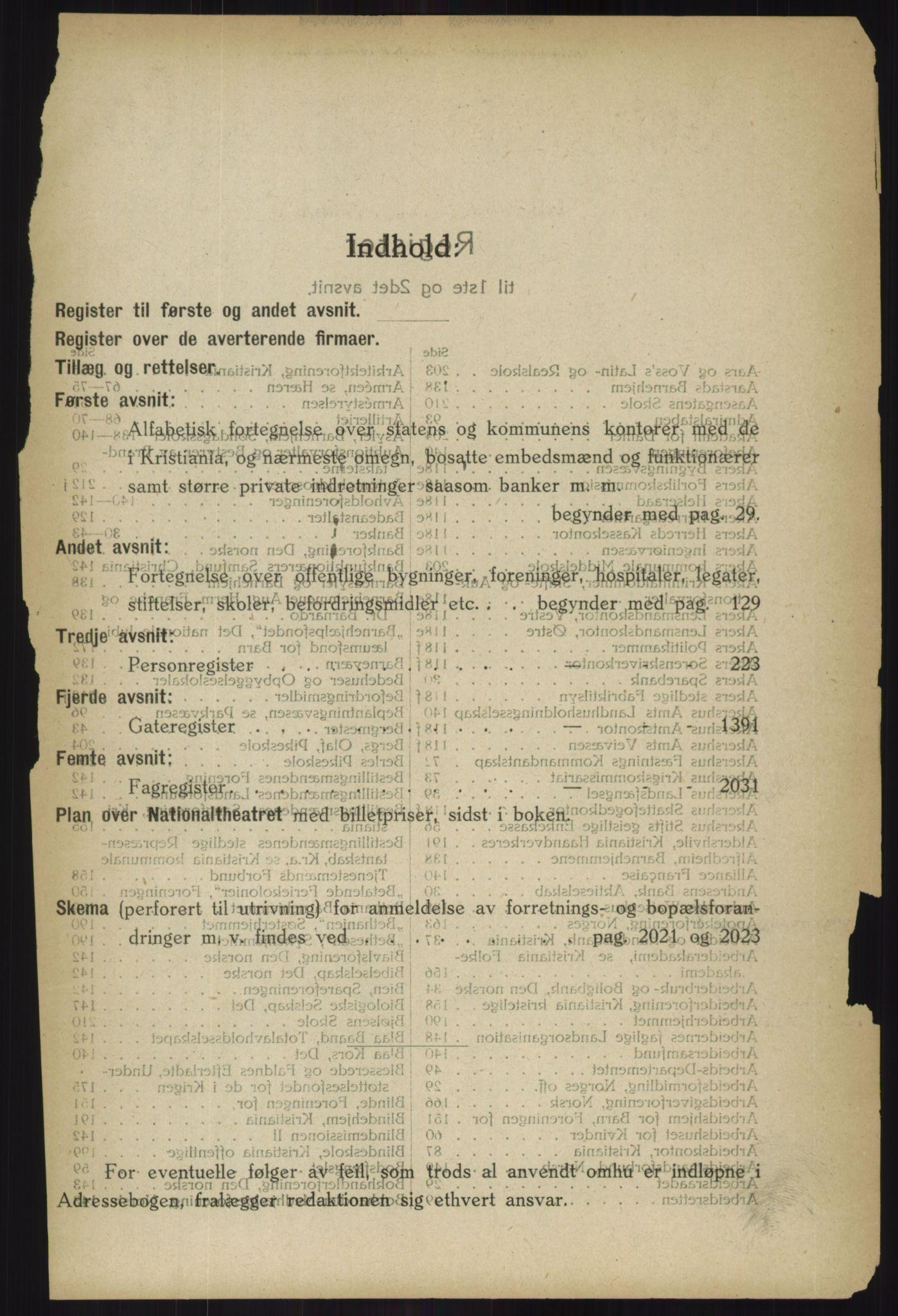 PUBL, Kristiania/Oslo adressebok, 1918, s. 20