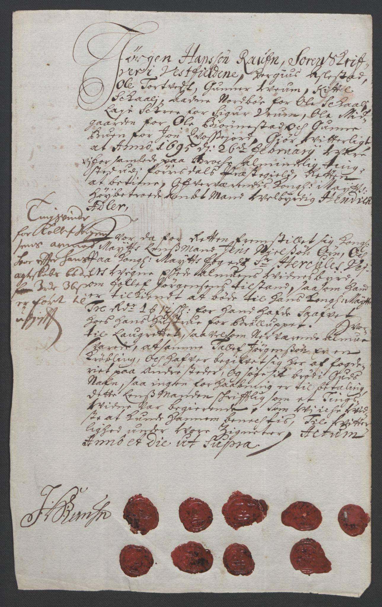 RA, Rentekammeret inntil 1814, Reviderte regnskaper, Fogderegnskap, R36/L2092: Fogderegnskap Øvre og Nedre Telemark og Bamble, 1694, s. 145